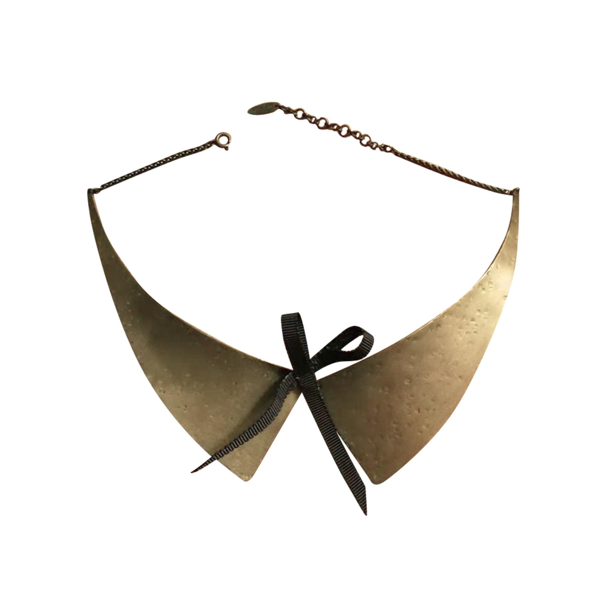 Collier AGNÈS B. Doré, bronze, cuivre