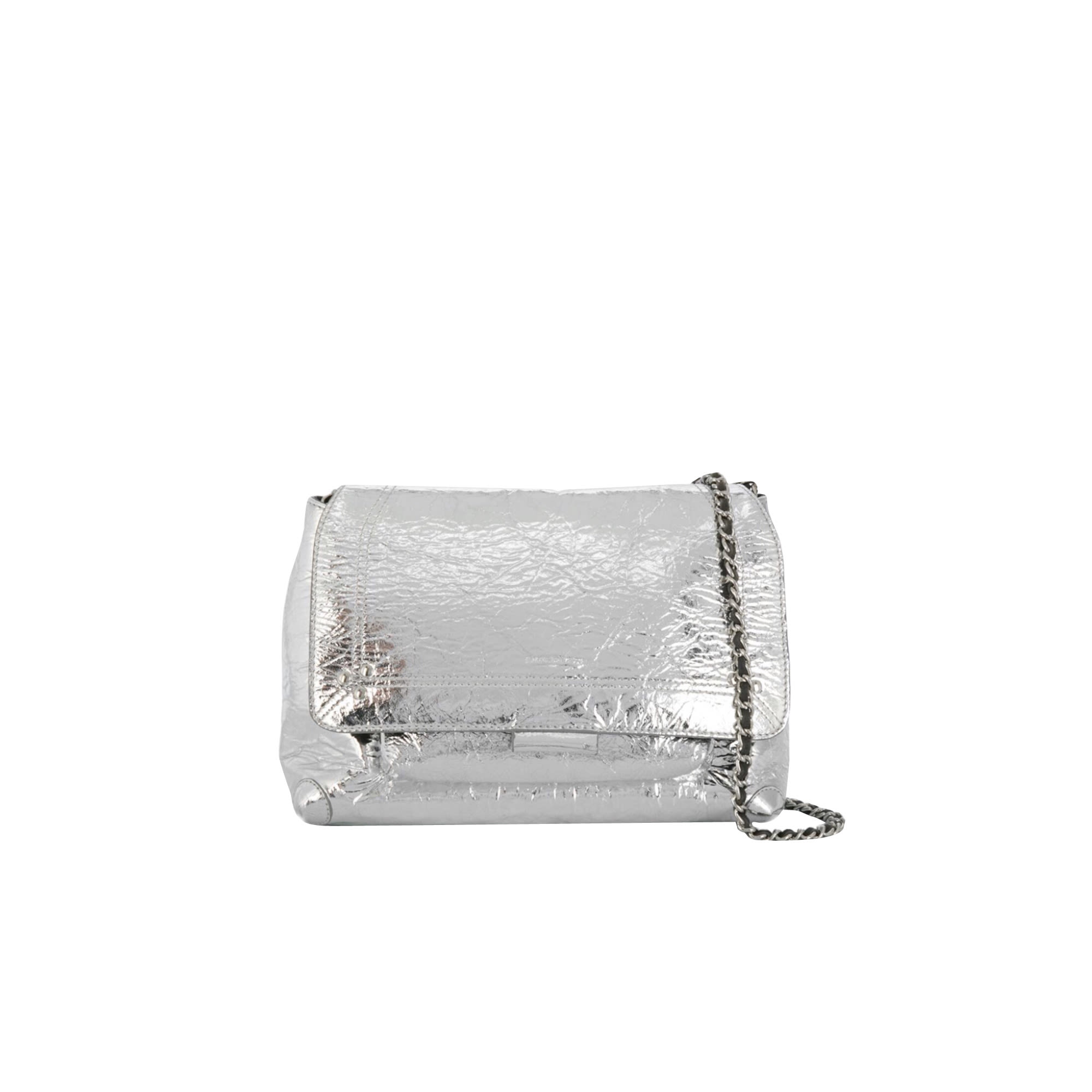 Leather Shoulder Bag JEROME DREYFUSS Silver