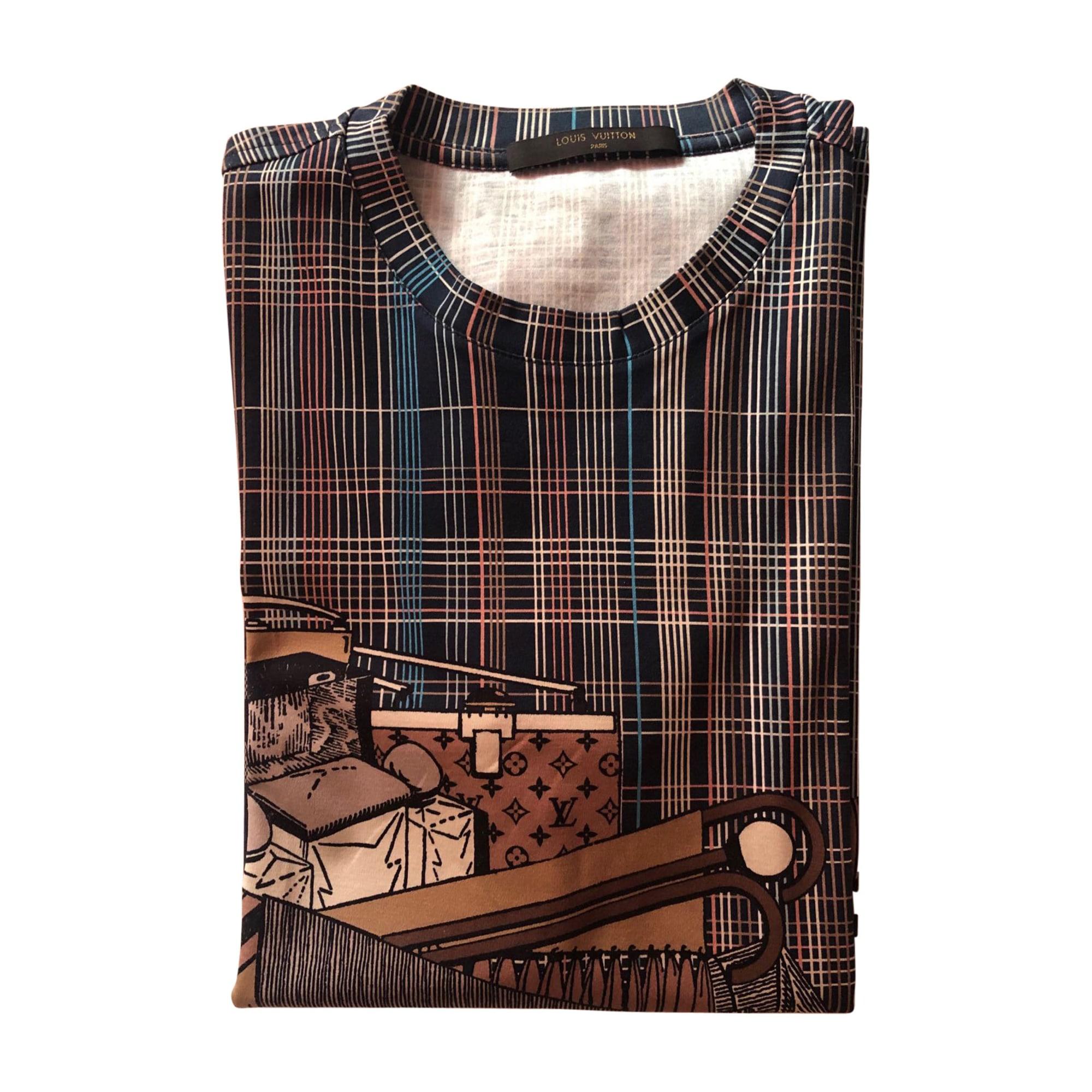 Tee-shirt LOUIS VUITTON Marron, kaki