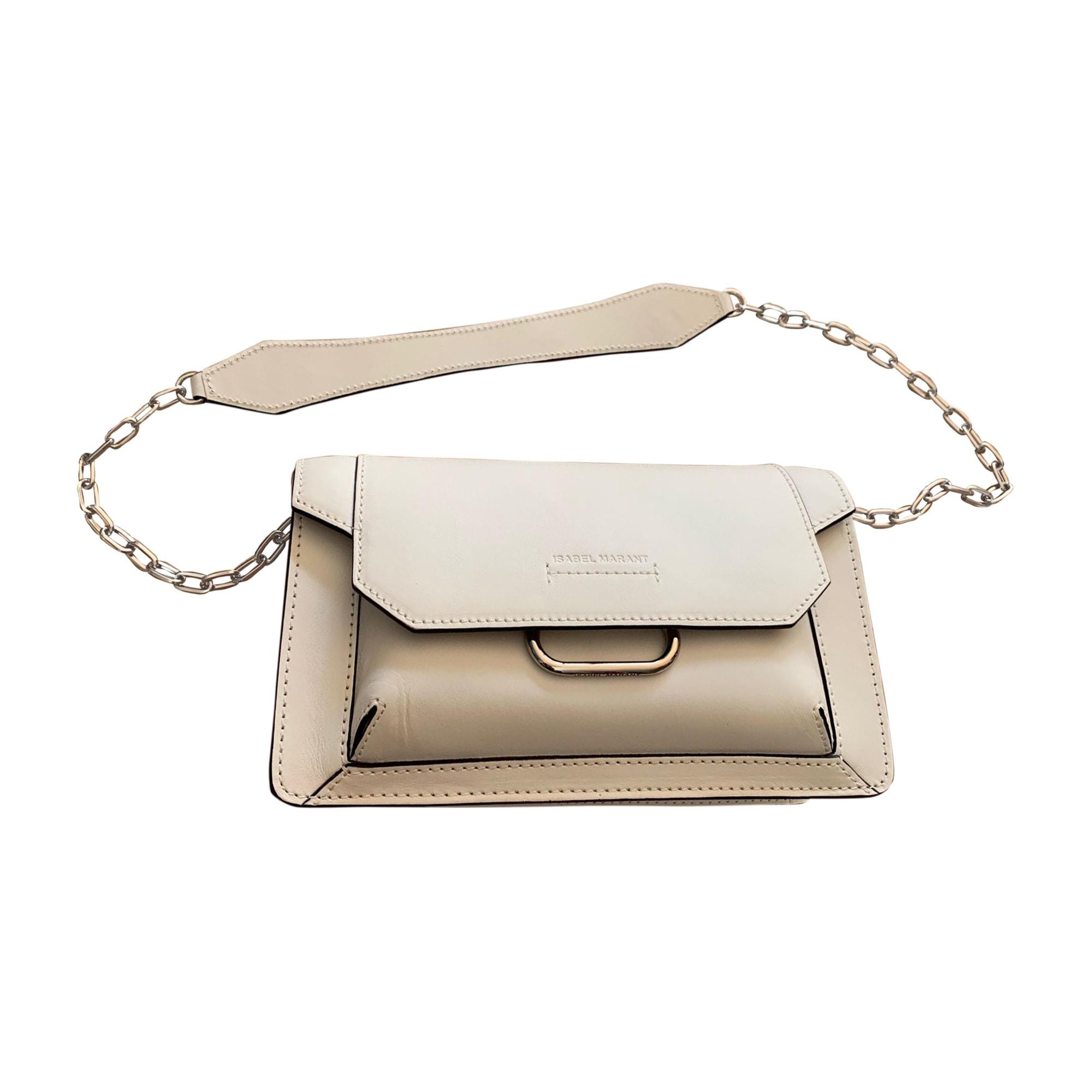 Leather Handbag ISABEL MARANT White, off-white, ecru