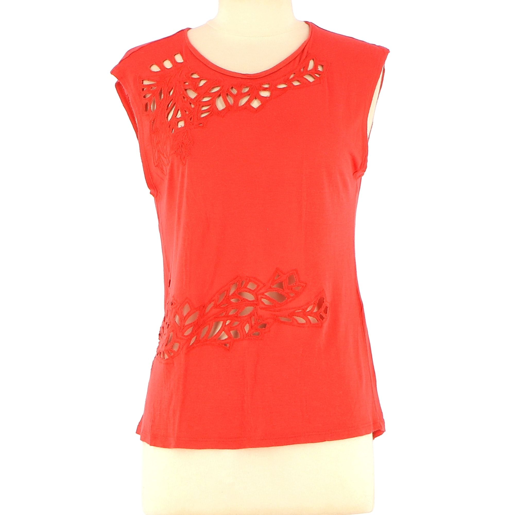 Top, tee-shirt MAJE Rouge, bordeaux