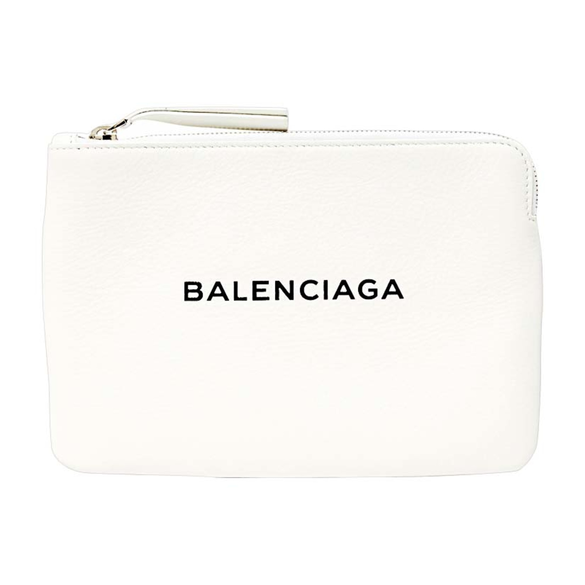 Leather Clutch BALENCIAGA White, off-white, ecru