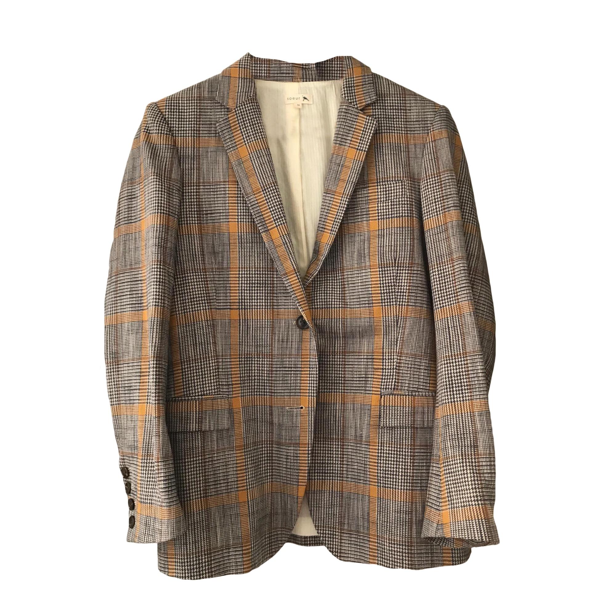 Blazer, veste tailleur SOEUR Gris, anthracite