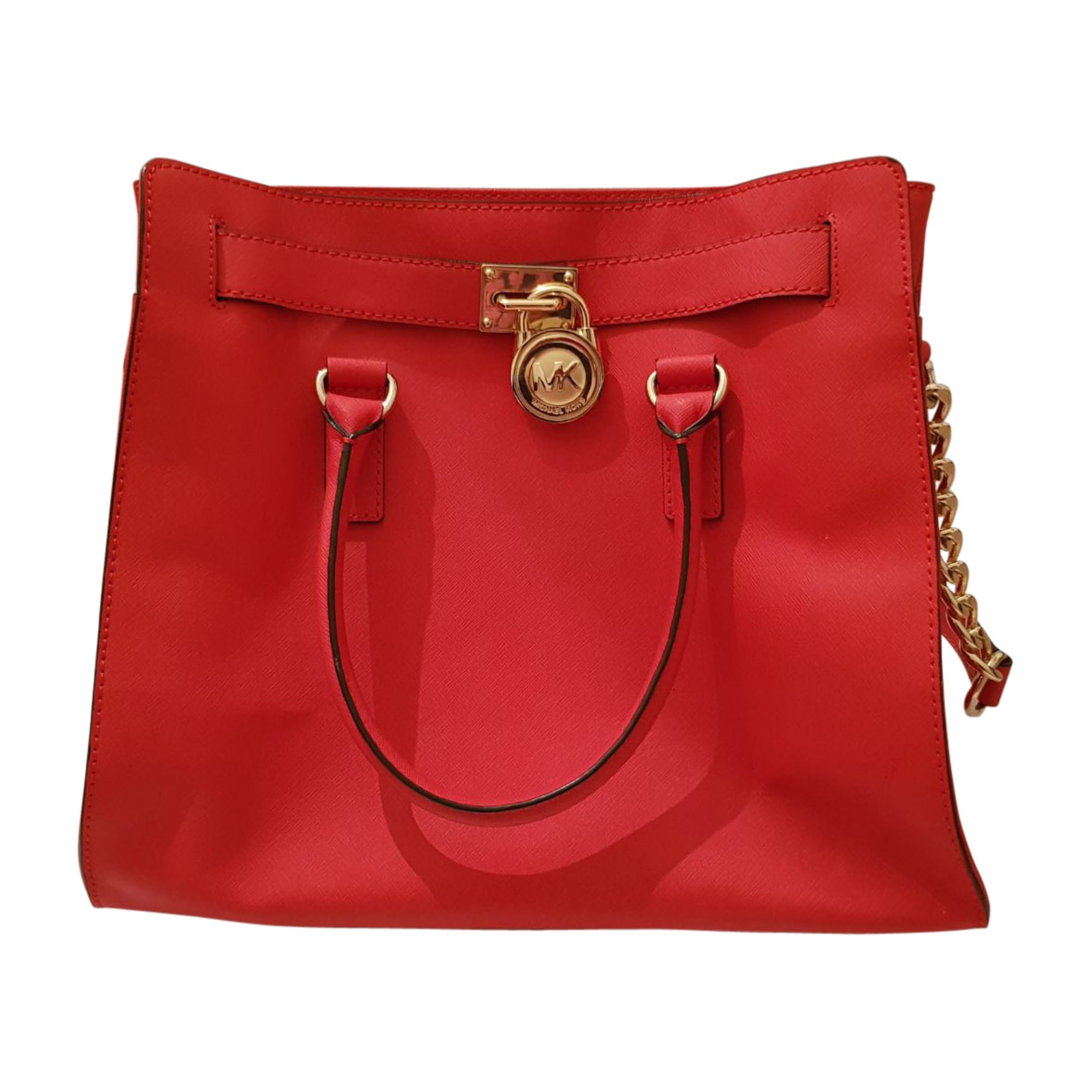 Leather Handbag MICHAEL KORS Red, burgundy