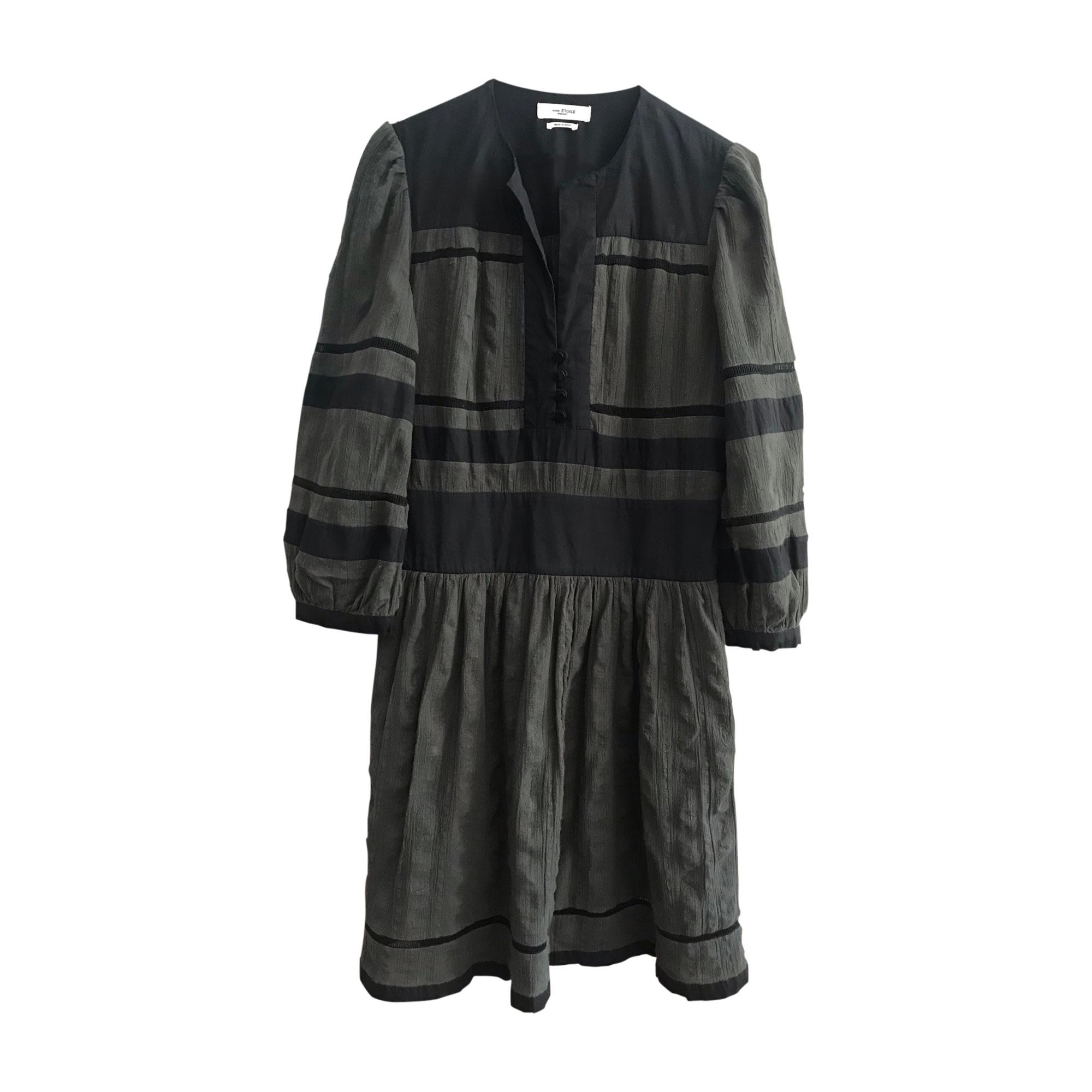 Robe courte ISABEL MARANT Gris, anthracite