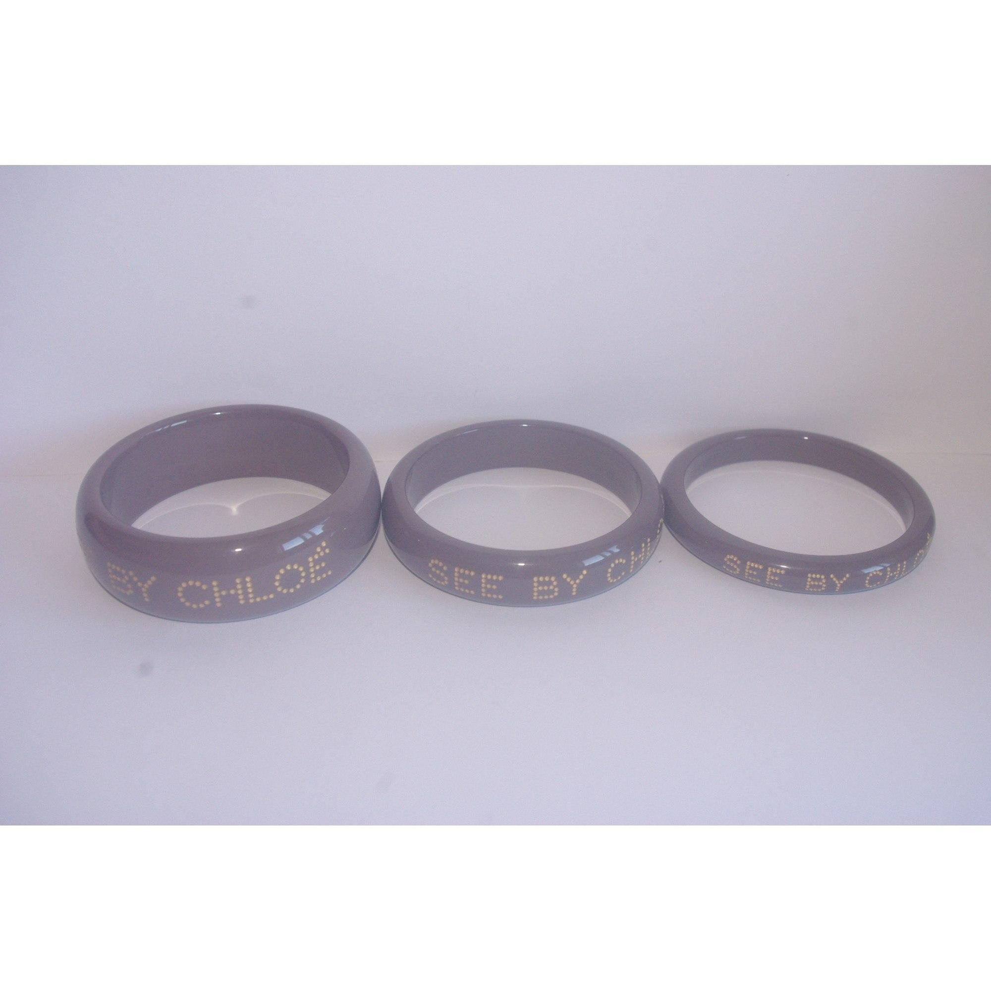 Bracelet SEE BY CHLOE plastique gris