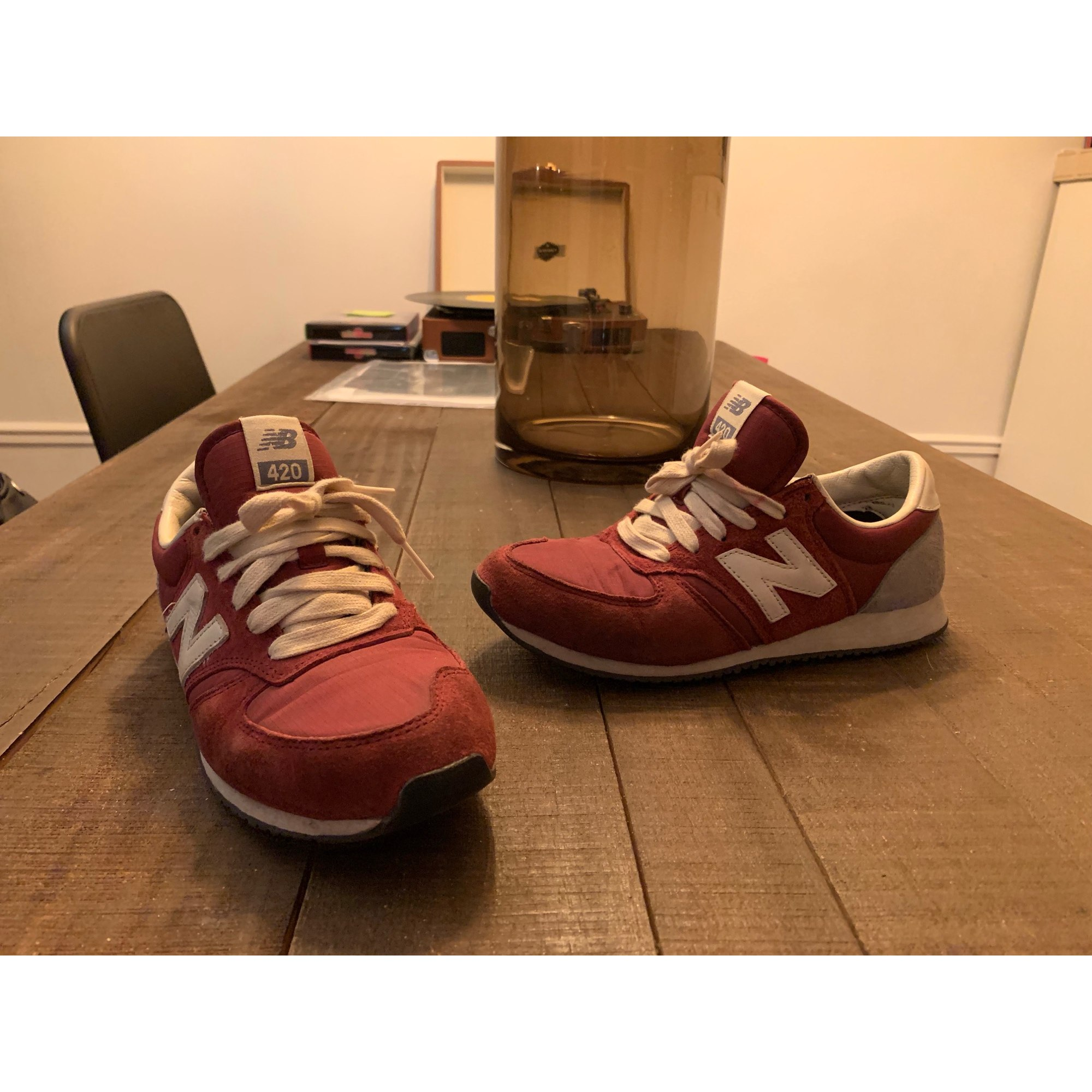 baskets new balance 38 bordeaux