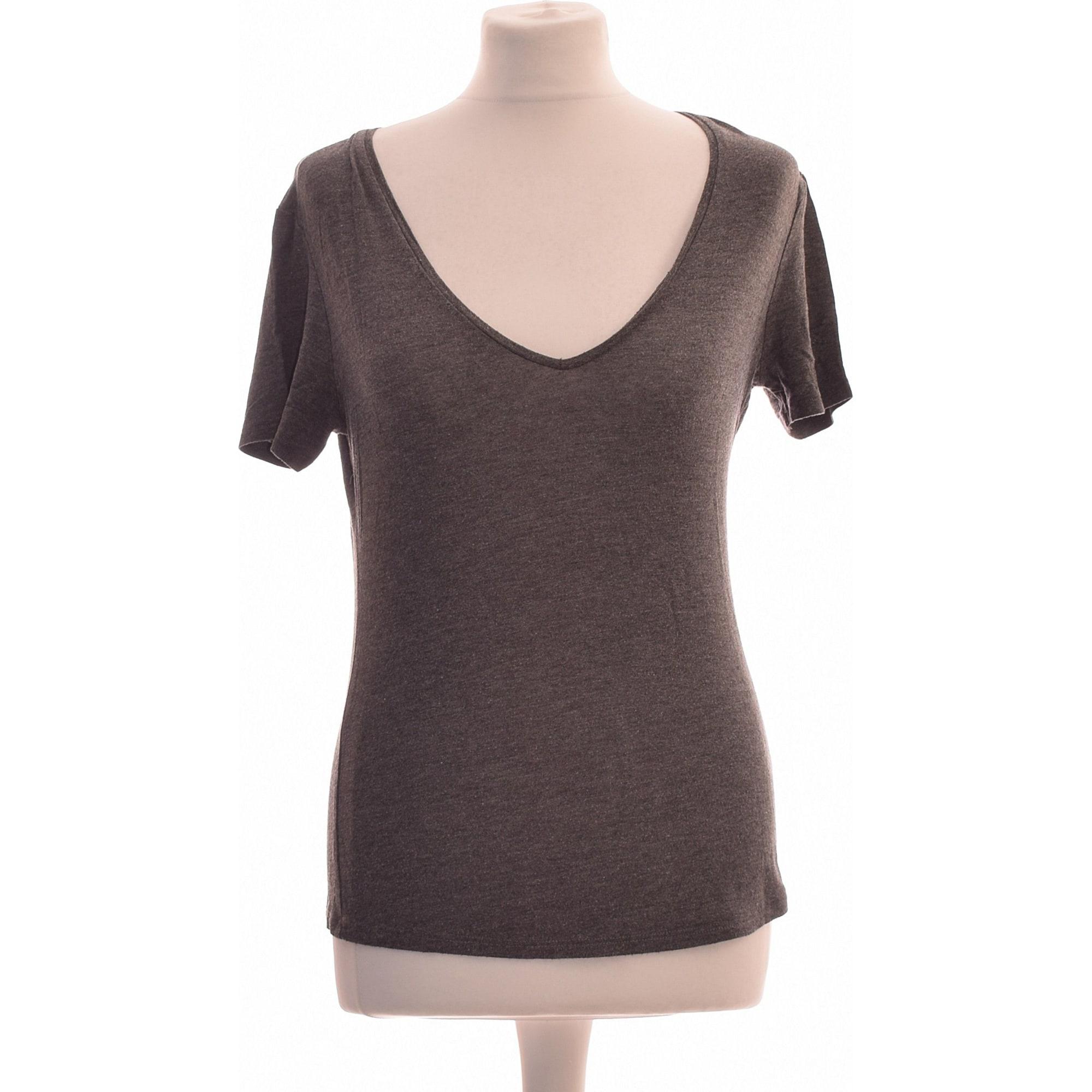 Top, T-shirt ZARA Gray, charcoal