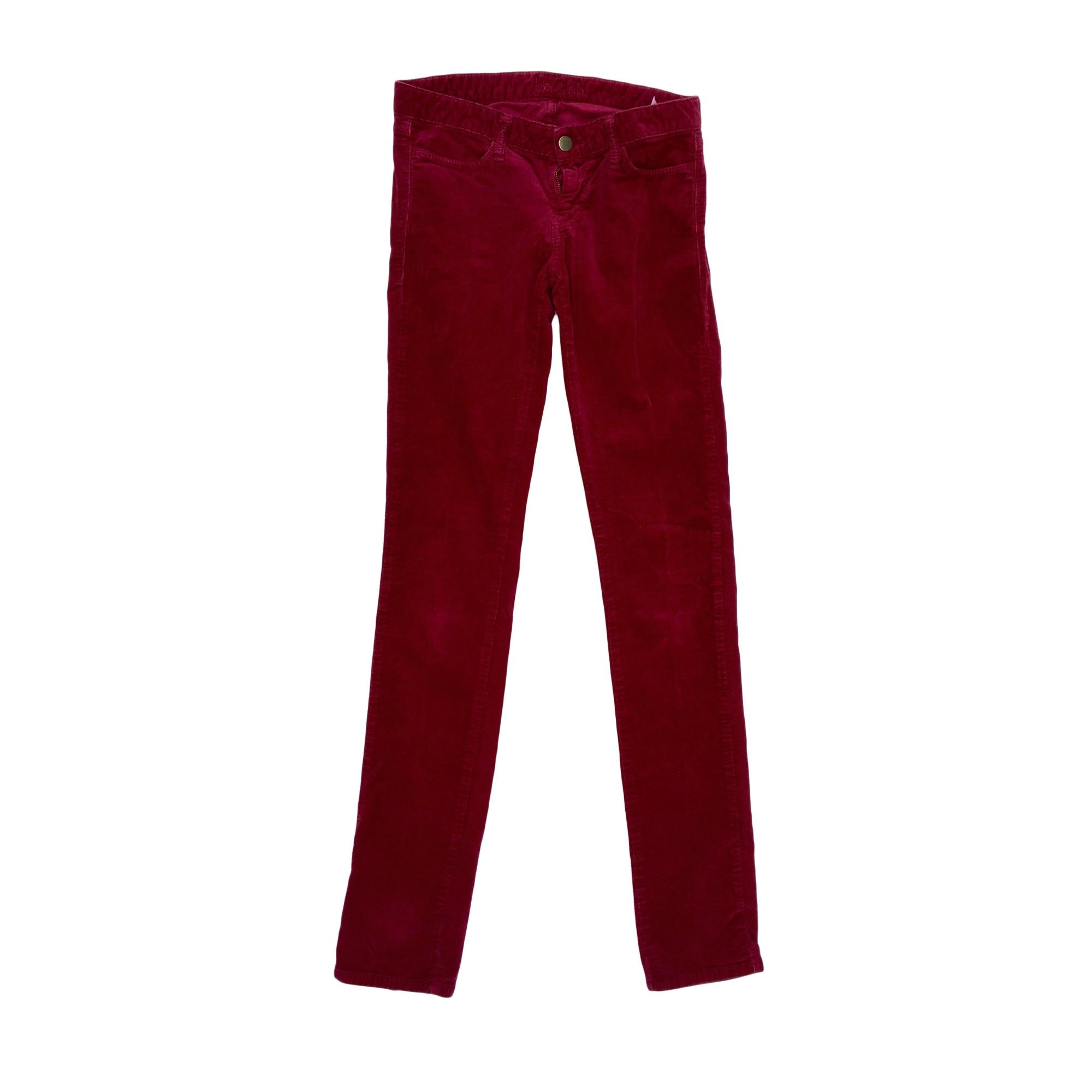 Pantalon slim, cigarette BA&SH Rouge, bordeaux