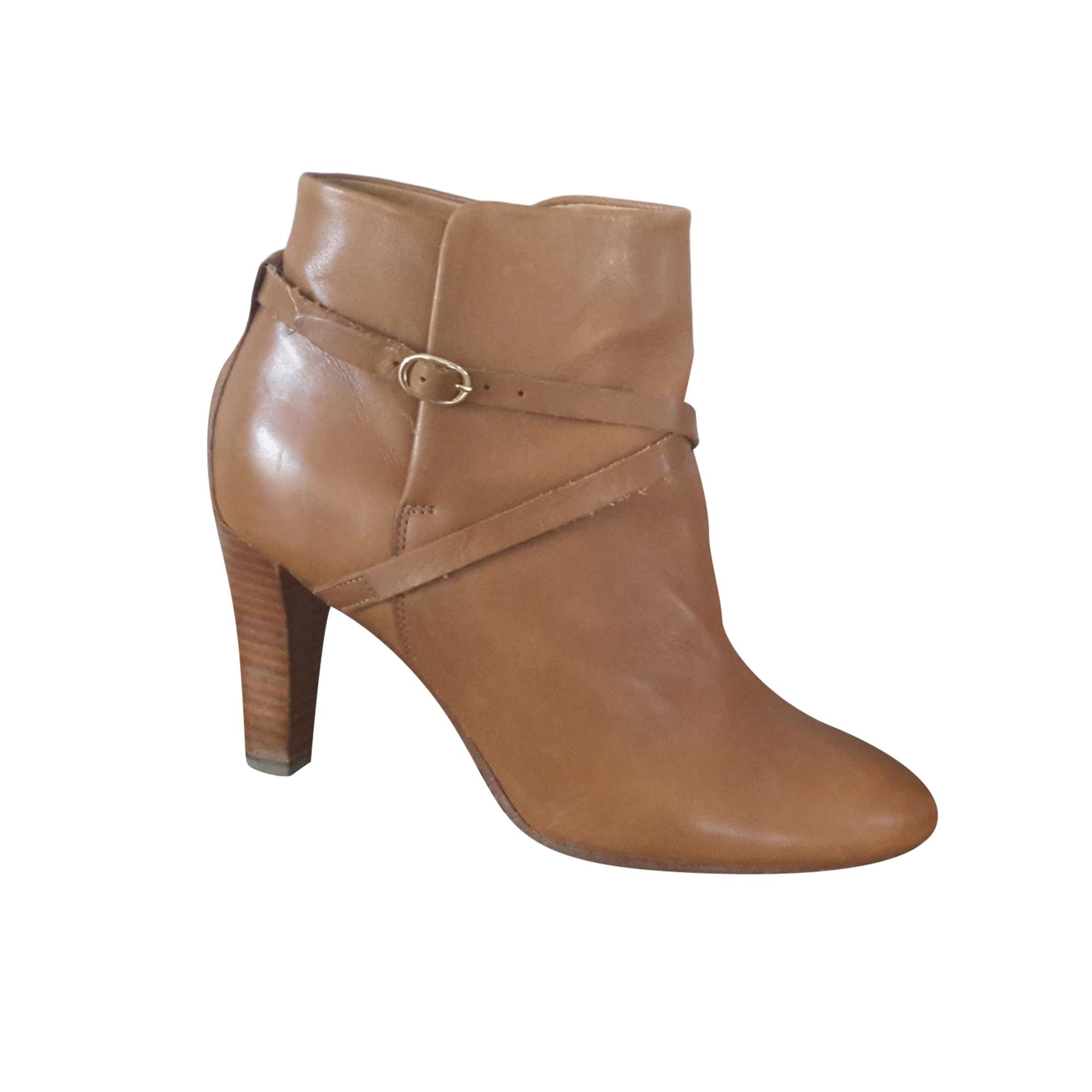 Bottines & low boots à talons SÉZANE Beige, camel