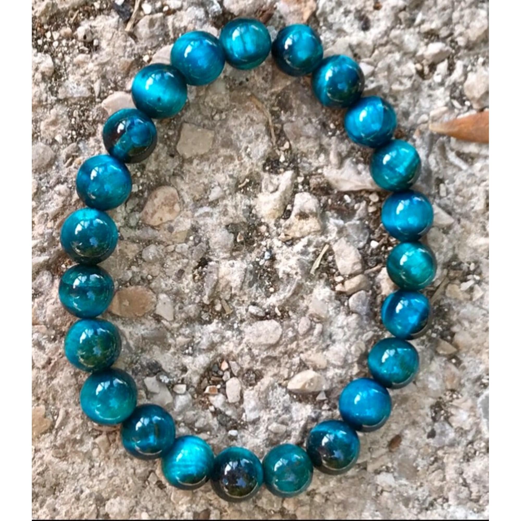 Bracelet ALEXANDRITE BLEUE pierres bleu