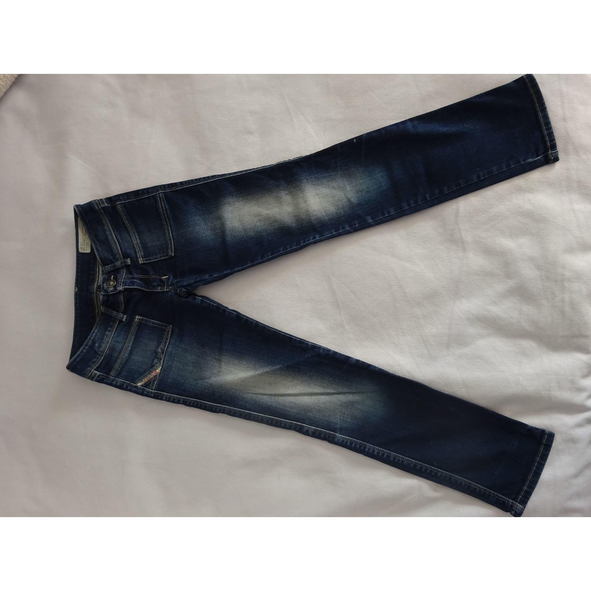 Jean slim DIESEL Blu, blu navy, turchese