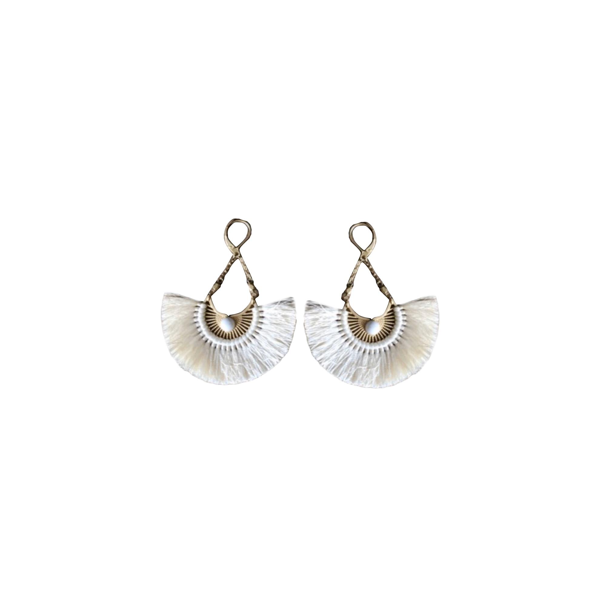 Boucles d'oreille SÉZANE titane blanc