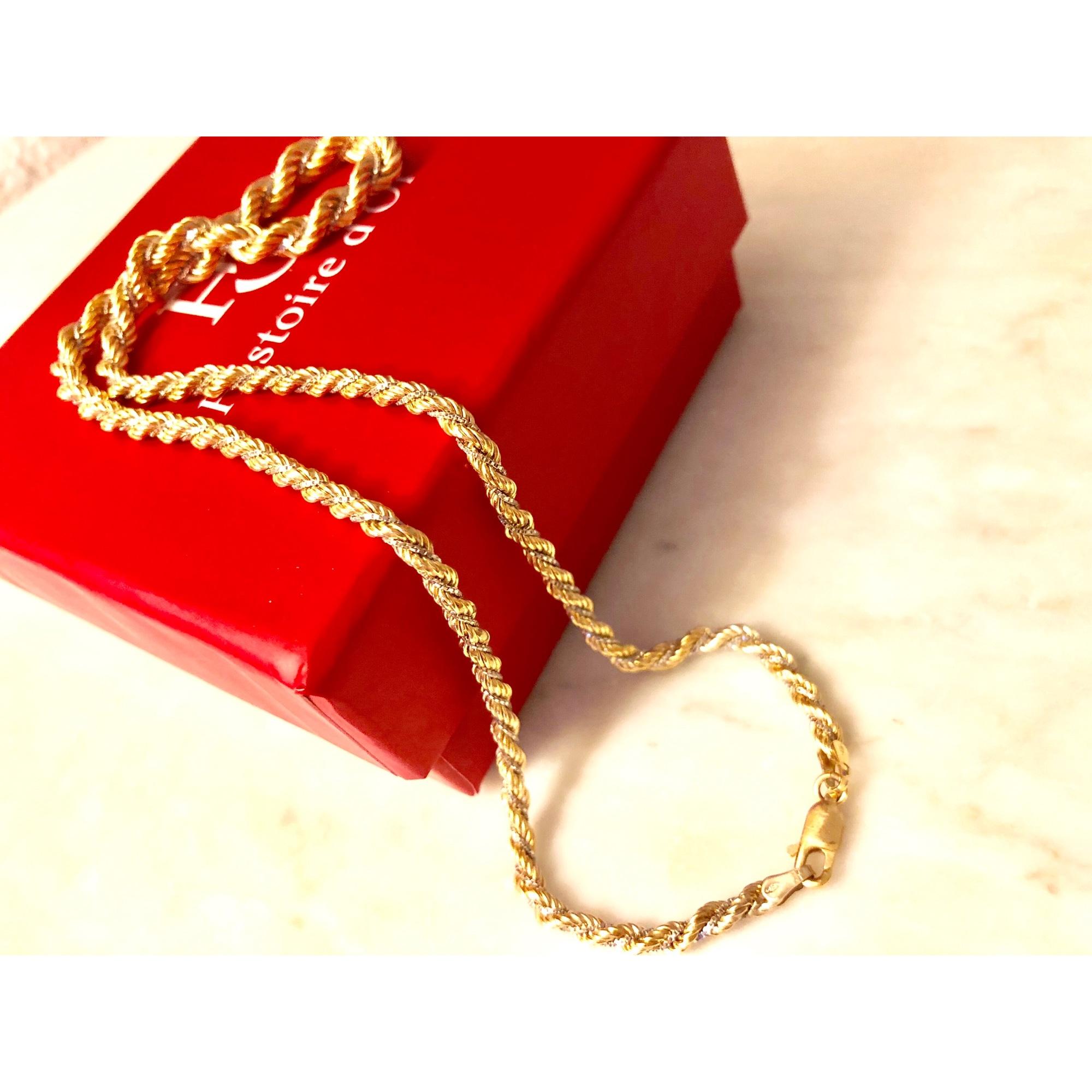 Chaine HISTOIRE D'OR or jaune doré