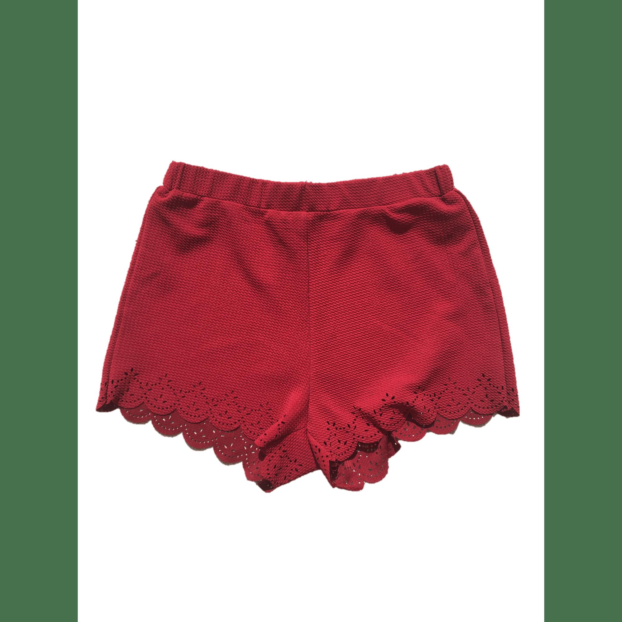 Short SHEINSIDE Rouge, bordeaux