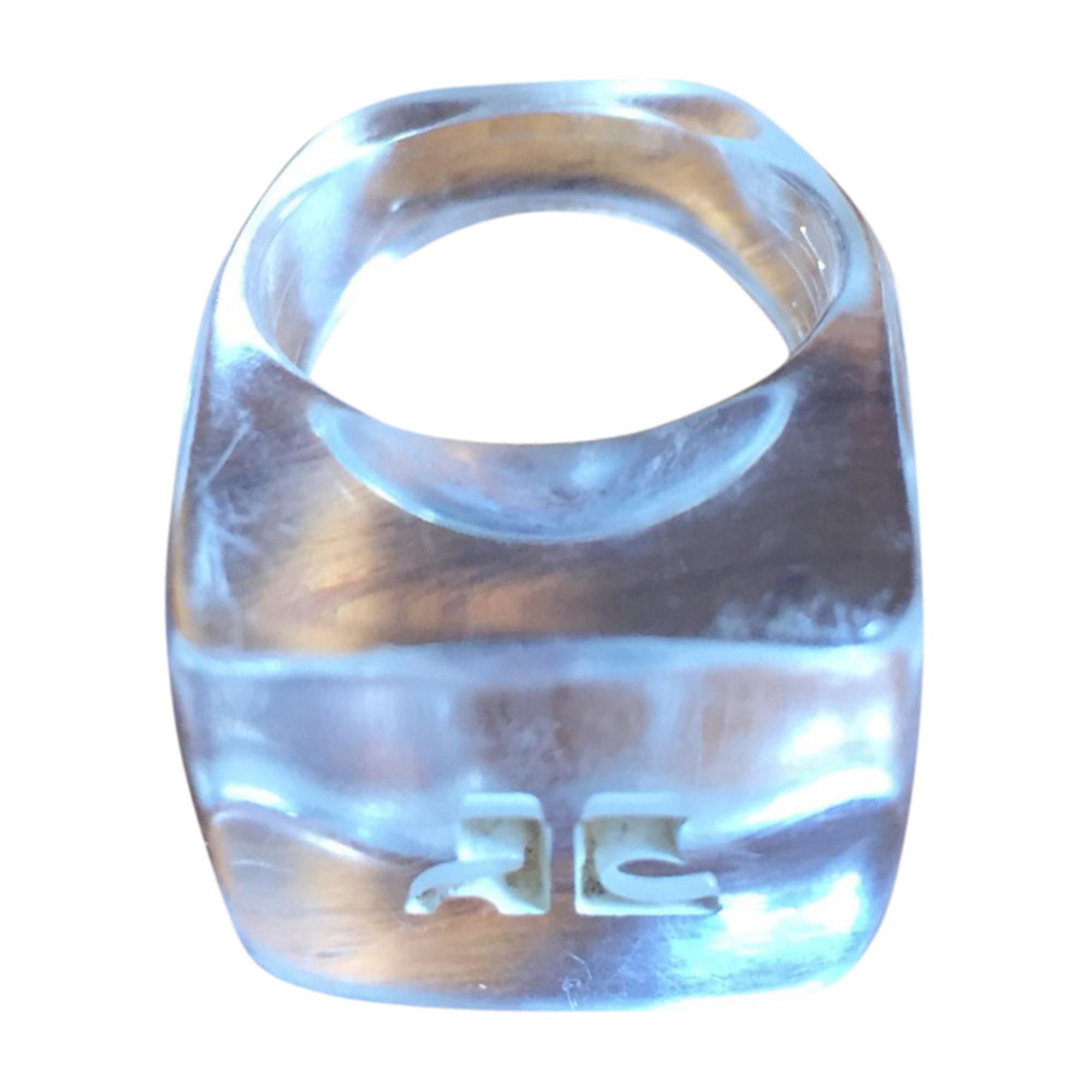 Bague COURRÈGES plastique blanc 56