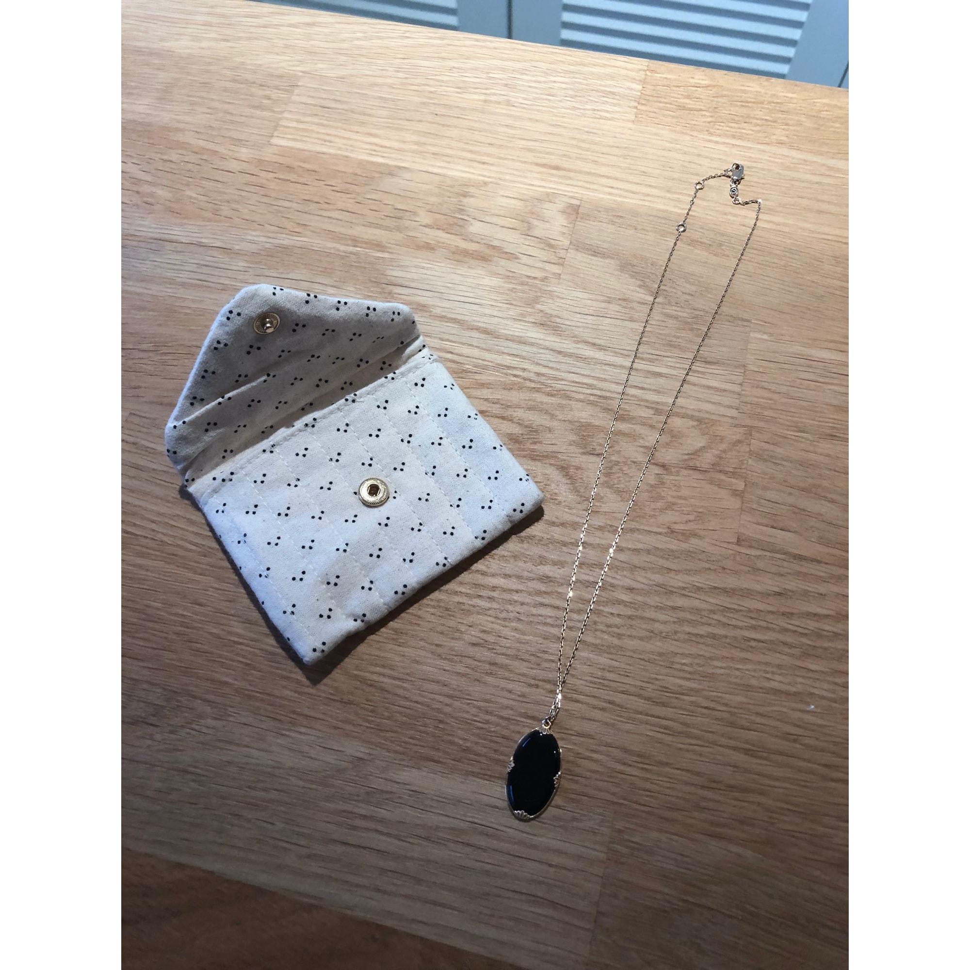 Pendentif, collier pendentif SÉZANE plaqué or noir