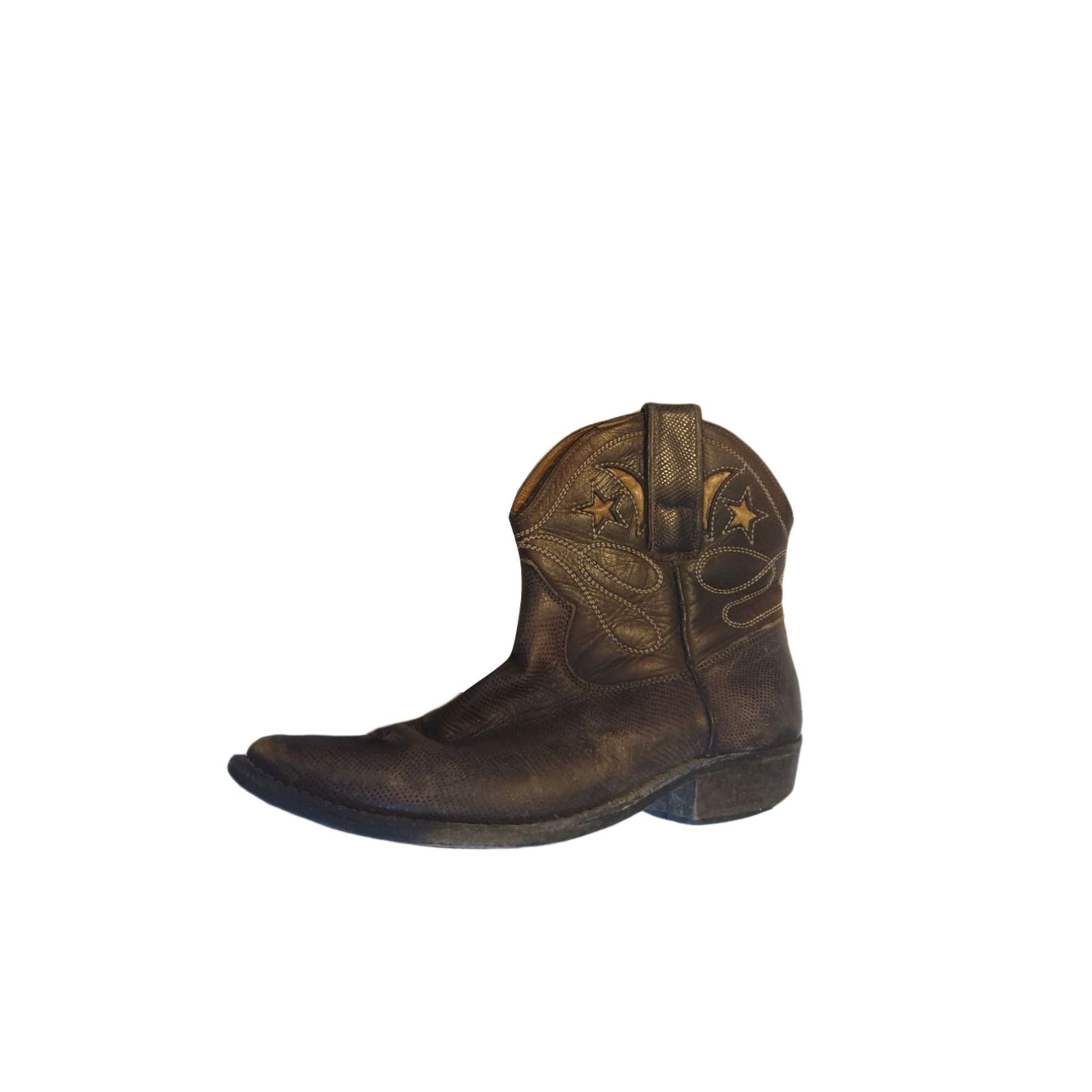 Stivali a punta, stivaletti, stivali bassi cowboy GOLDEN GOOSE Marrone