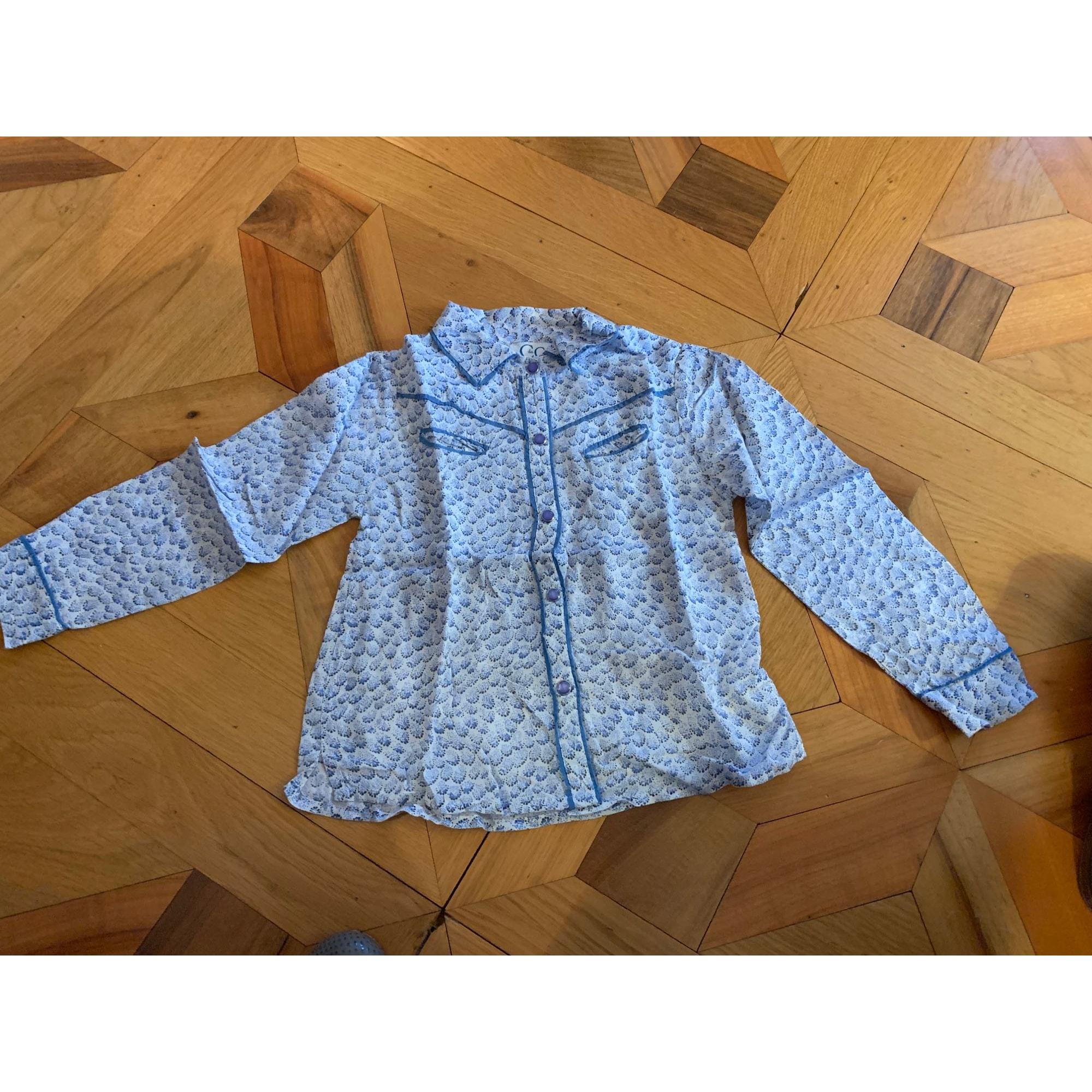 Chemisier C DE C BY CORDELIA DE CASTELLANE coton bleu 3-4 ans