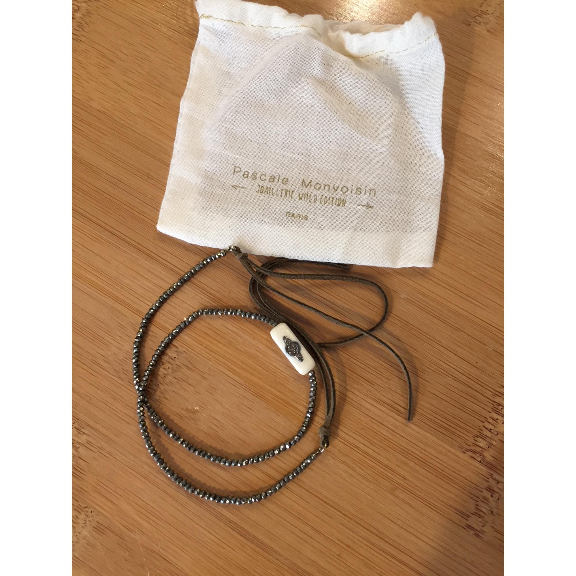 Bracelet PASCALE MONVOISIN pyrite et bakelite blanc