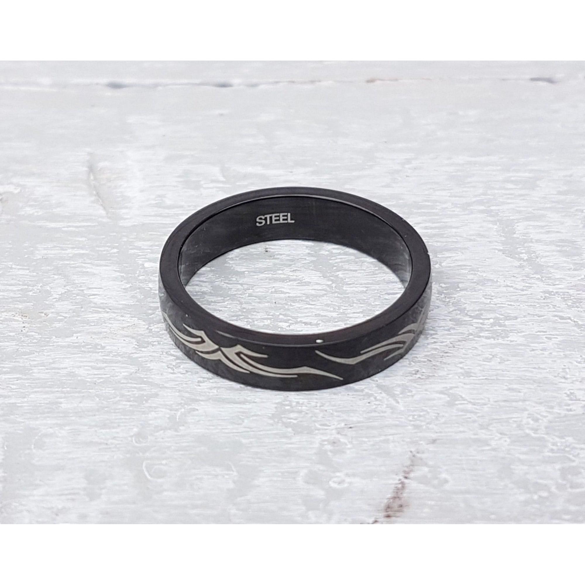 Bague OXBOW acier noir 62