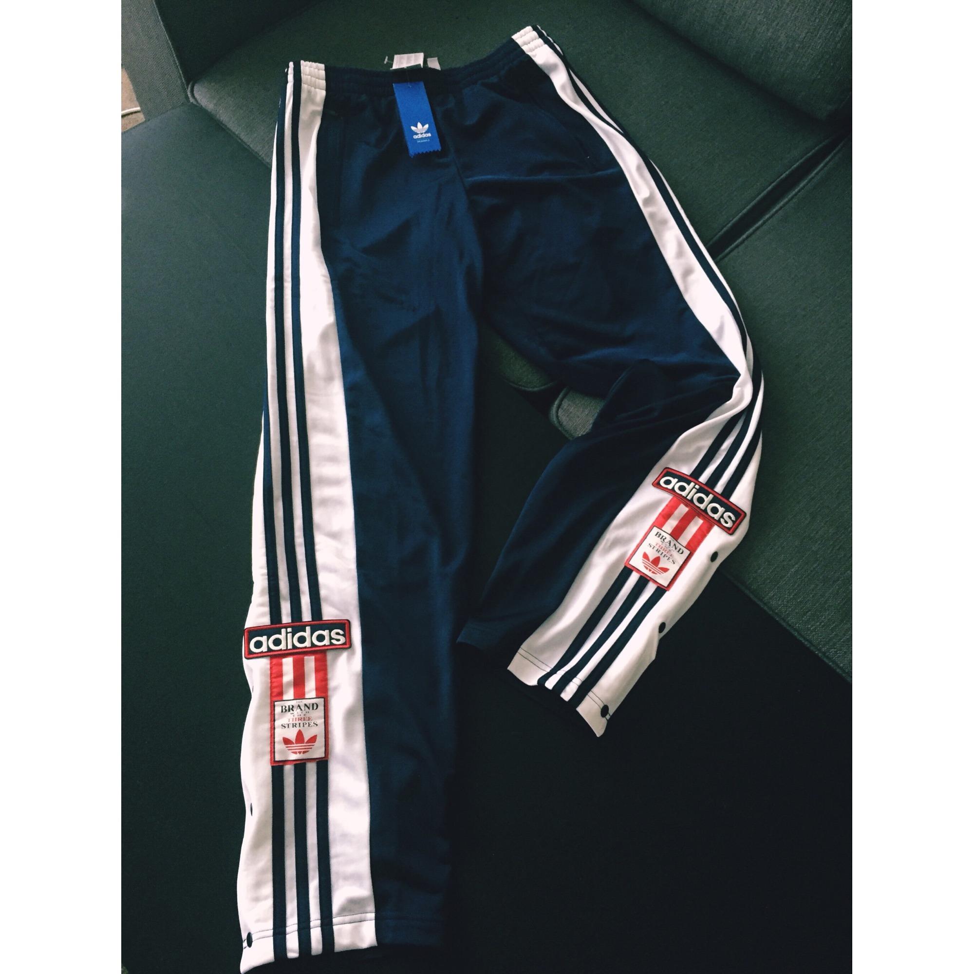 Pantalon de survêtement ADIDAS Bleu, bleu marine, bleu turquoise