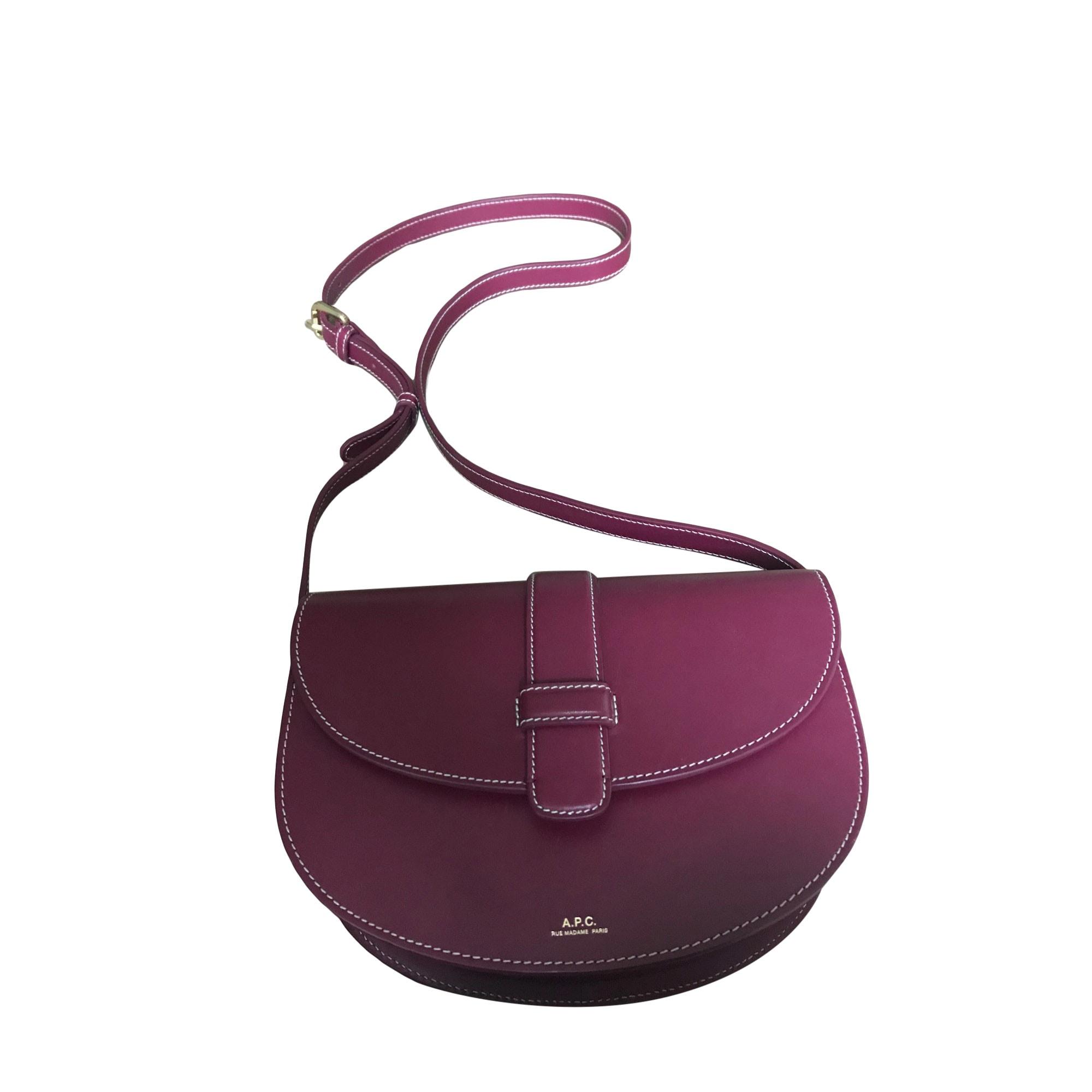 Leather Shoulder Bag APC Pink, fuchsia, light pink
