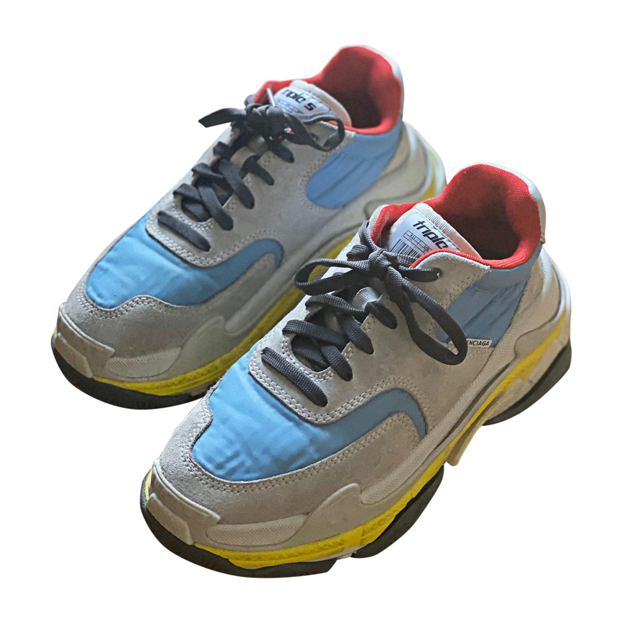 Sneakers BALENCIAGA Triple S Blue, navy, turquoise