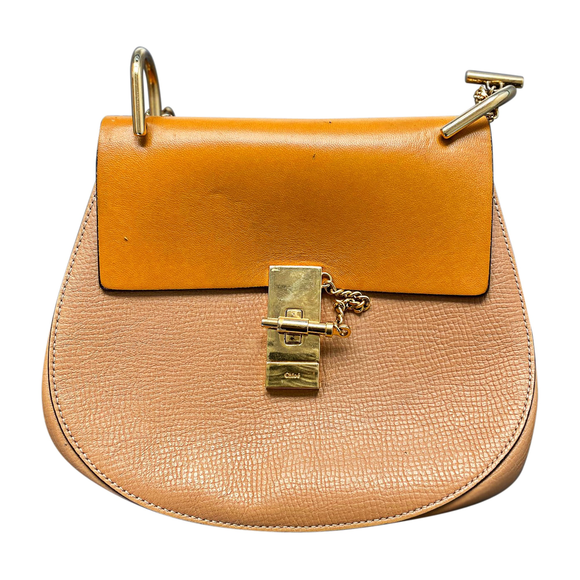 Leather Shoulder Bag CHLOÉ Beige, camel