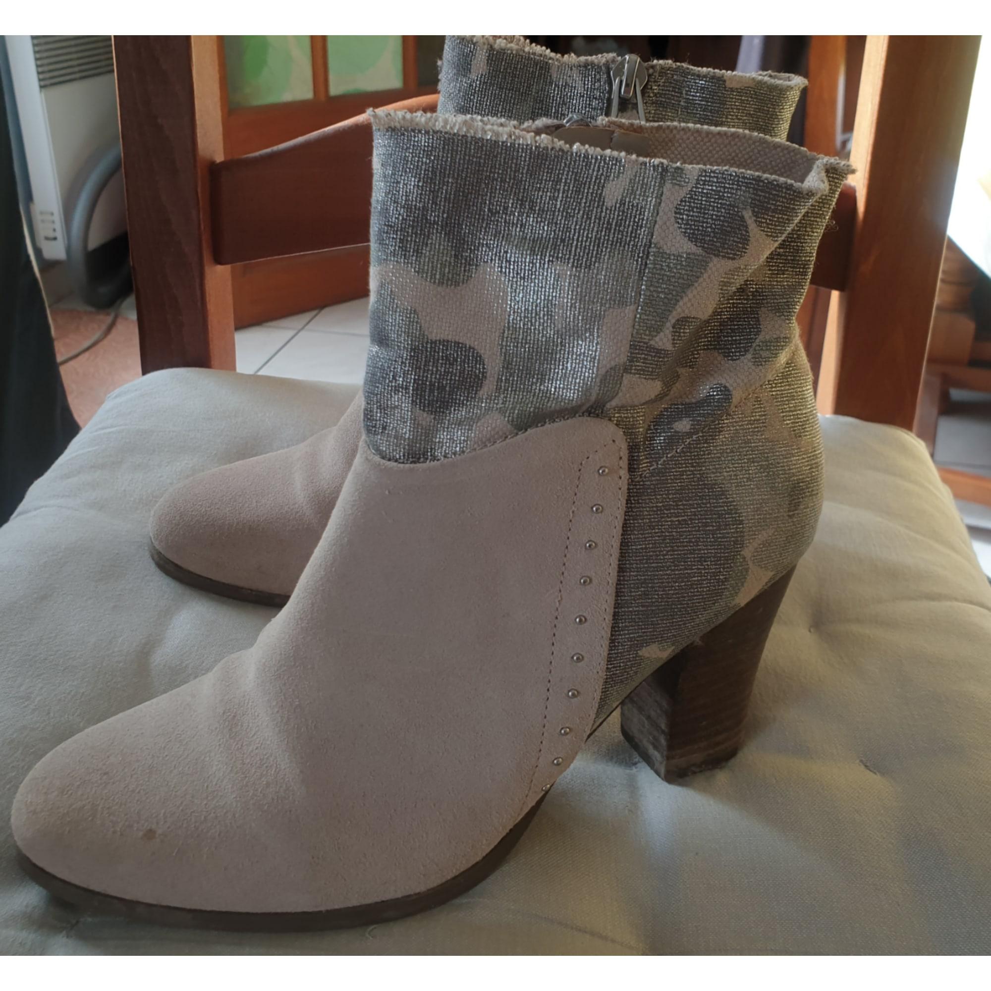 Bottines & low boots à talons GUESS Gris, anthracite