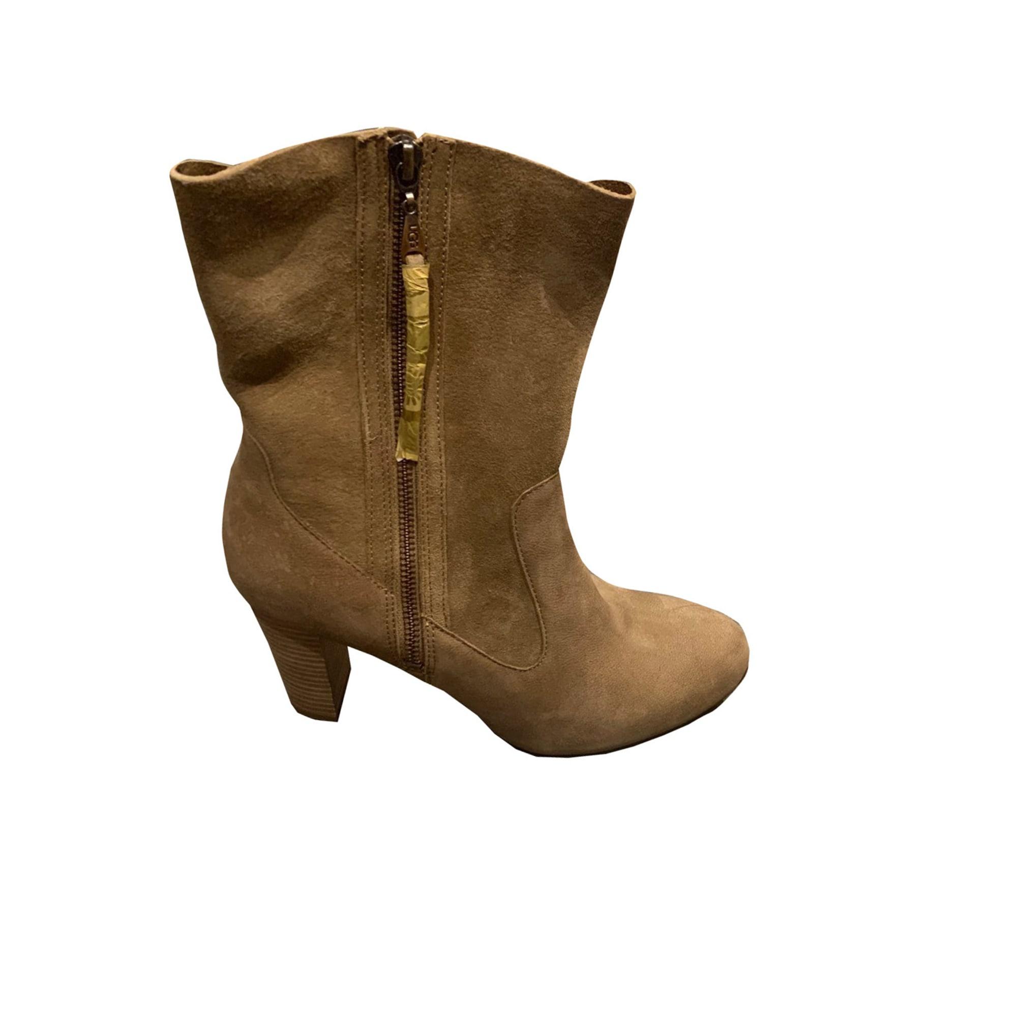 Bottines & low boots à talons UGG Beige, camel