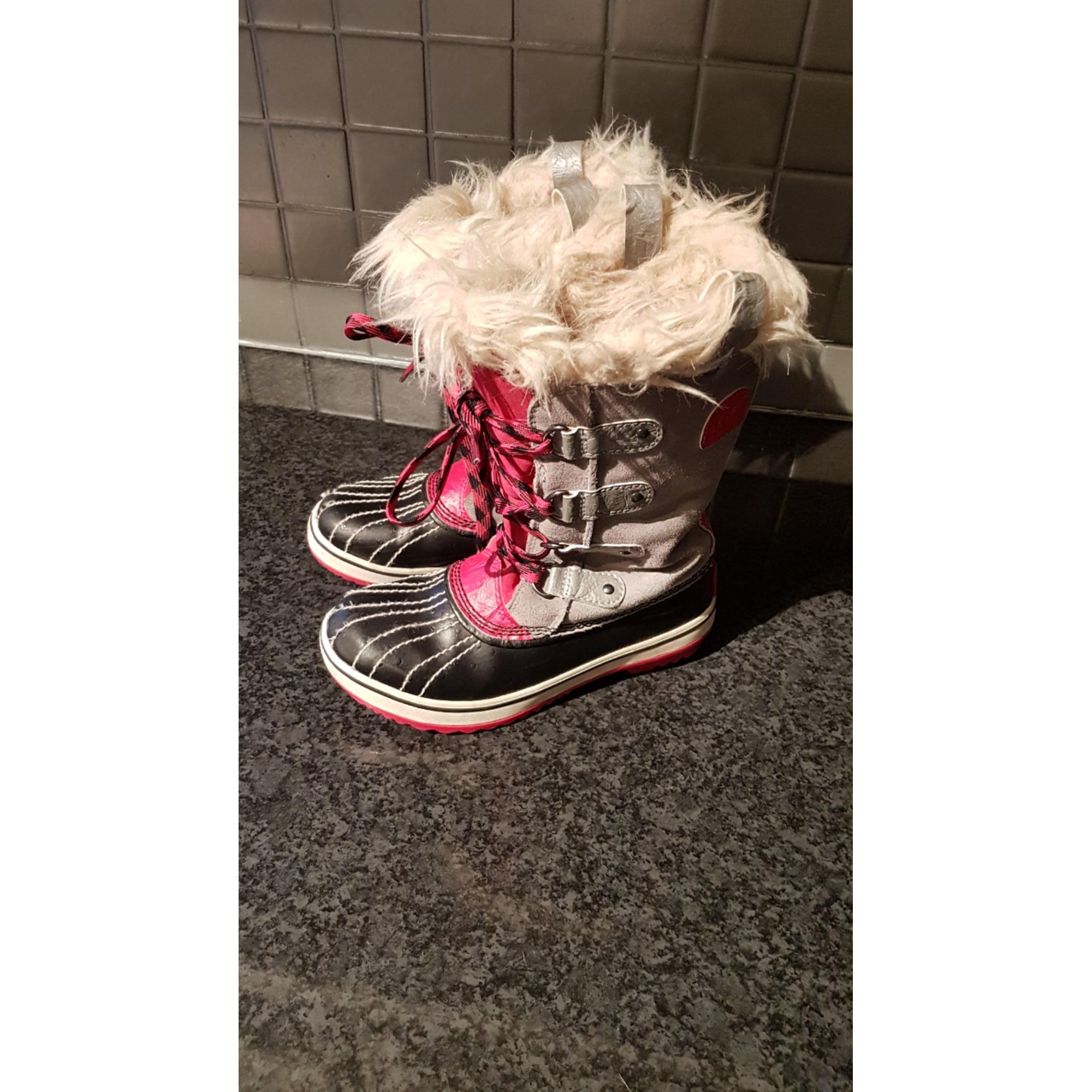 Bottes de neige SOREL cuir rose 33