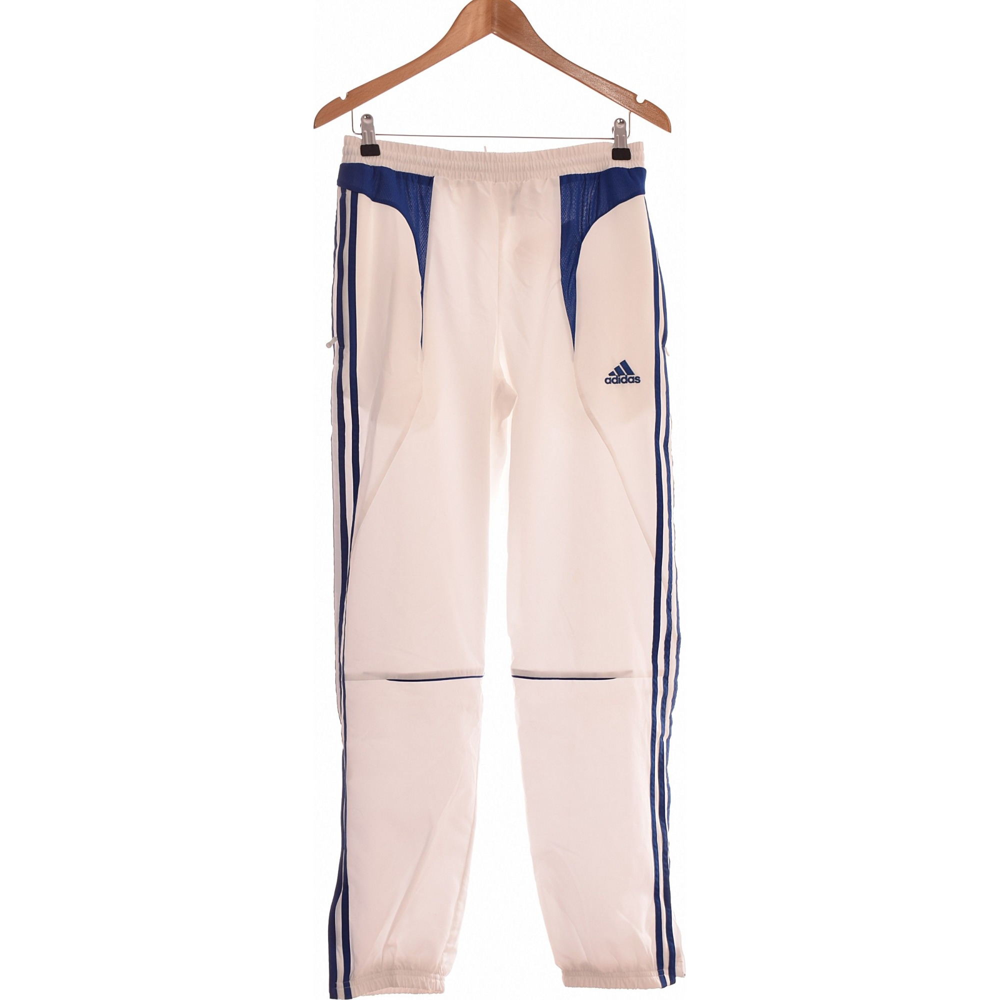 Pantalon slim ADIDAS Blanc, blanc cassé, écru