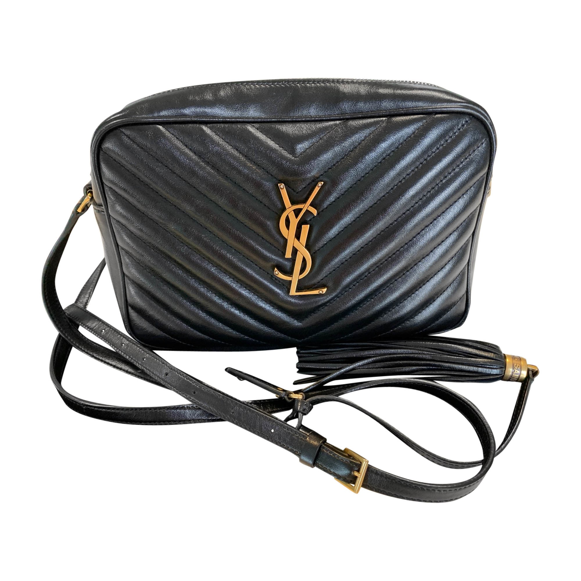 Borsa a tracolla in pelle YVES SAINT LAURENT Nero