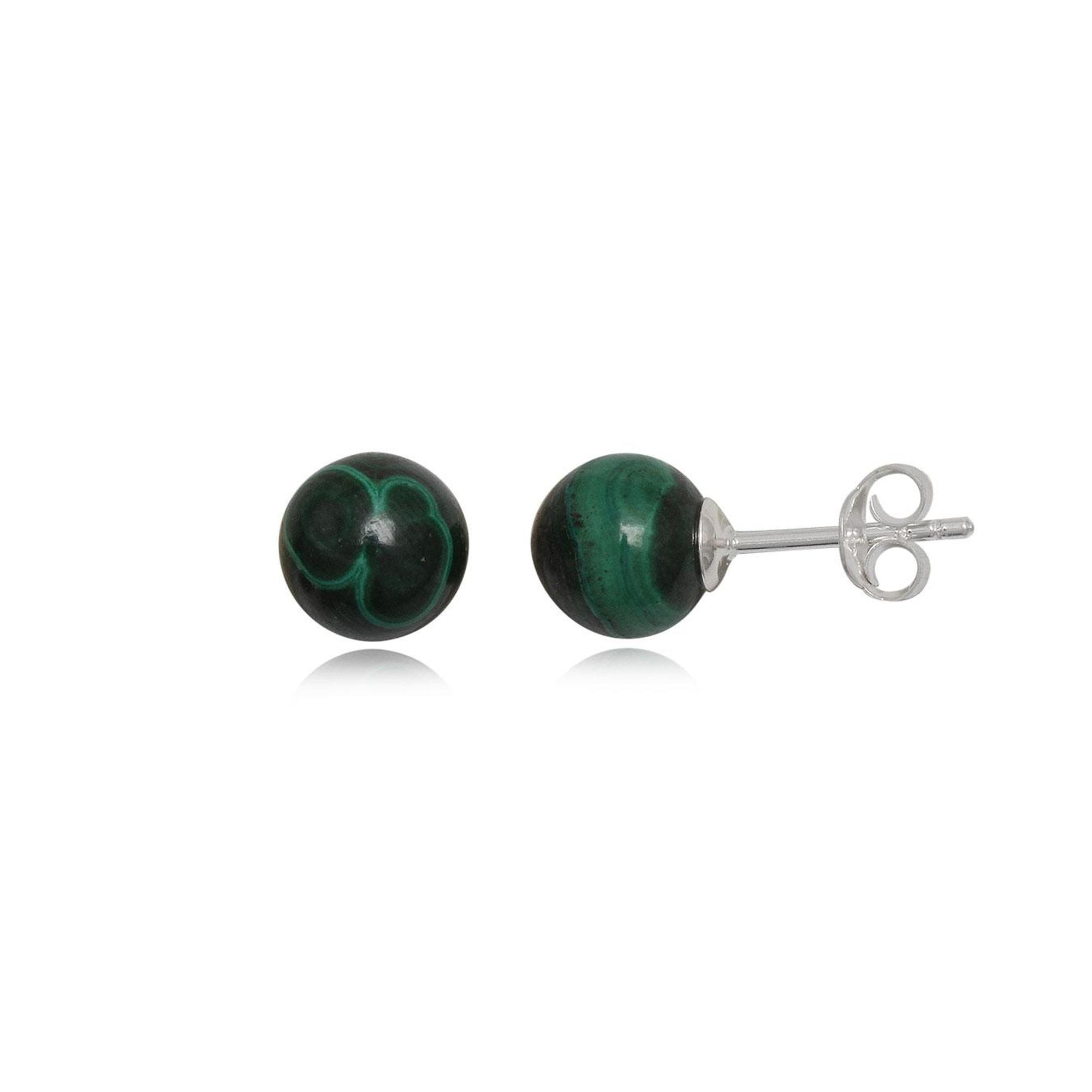 Boucles d'oreille BIJOUCOLOR argent vert