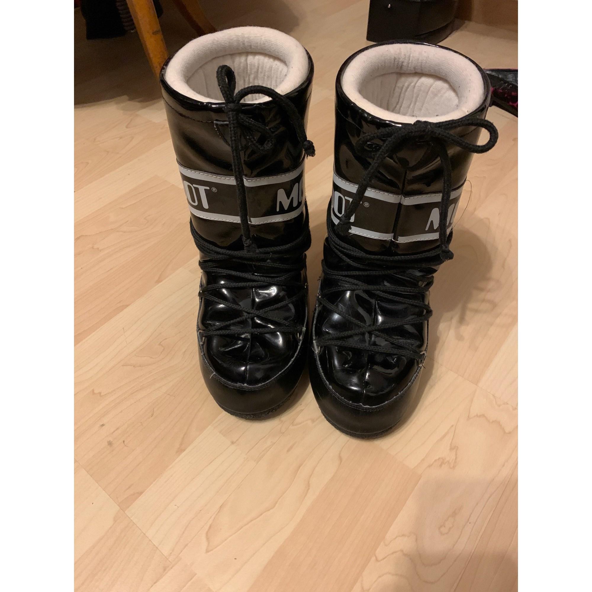 Bottes de neige MOON BOOTS plastique noir 33