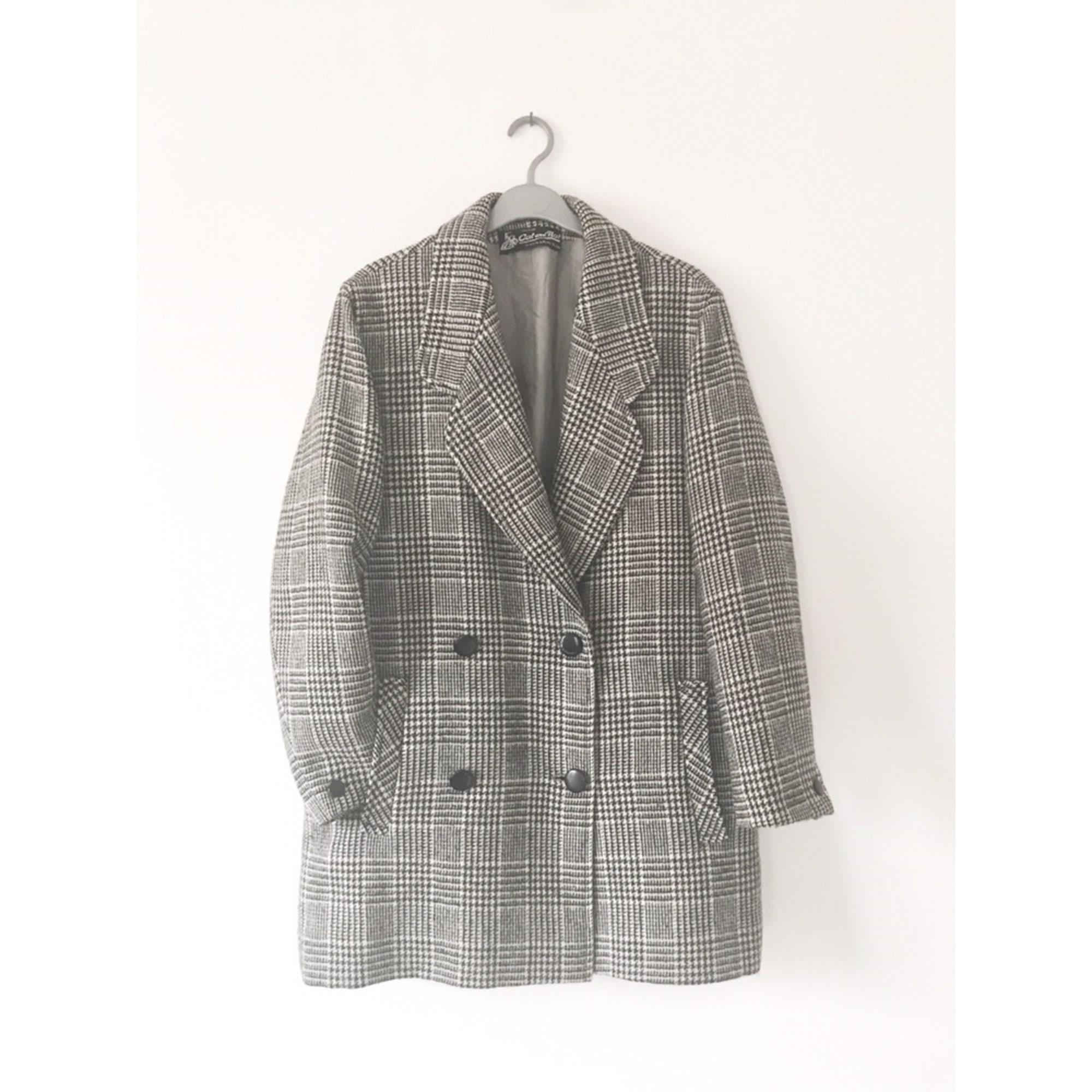 Manteau VINTAGE Noir et blanc