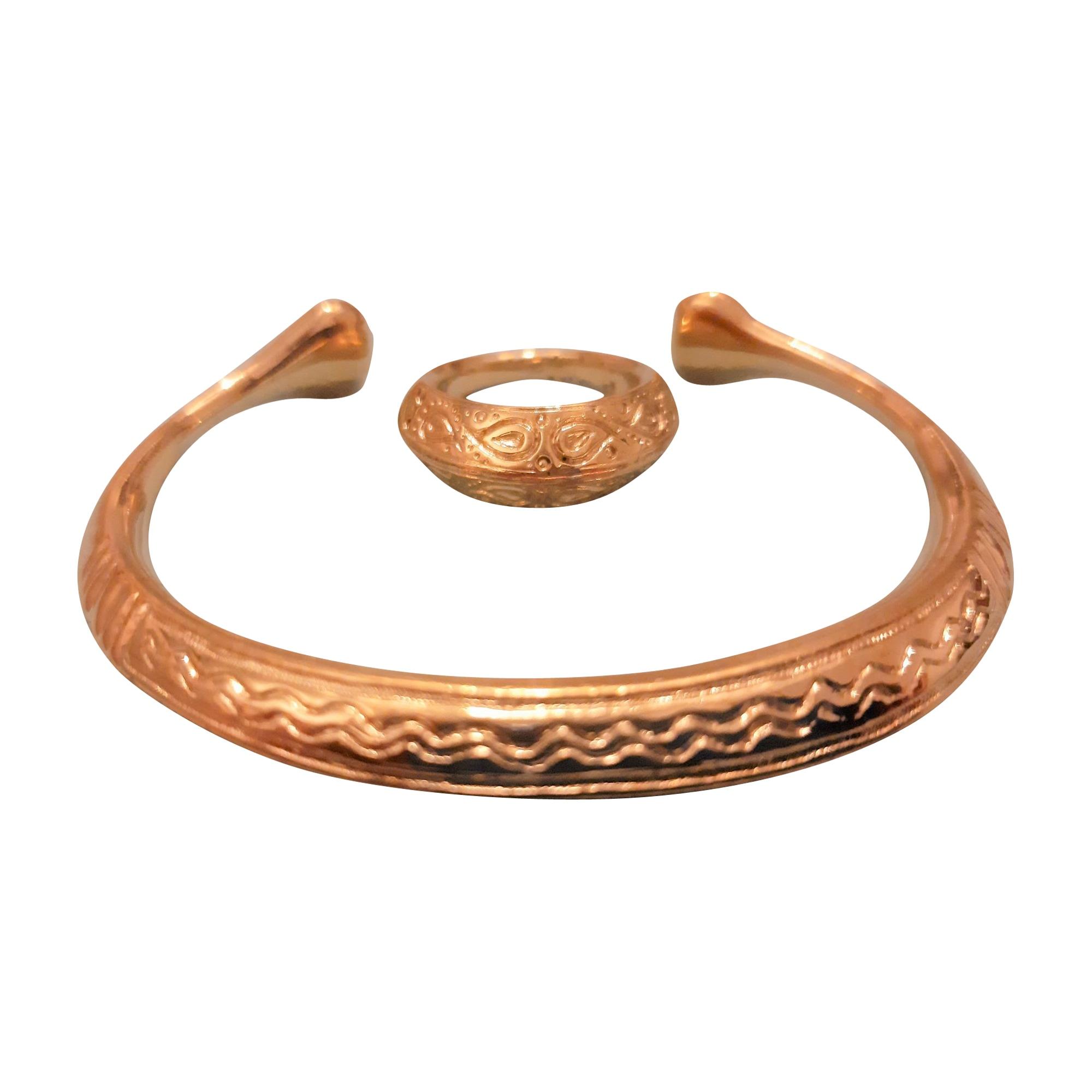 Parure bijoux AURELIE BIDERMANN Dorato, bronzo, rame
