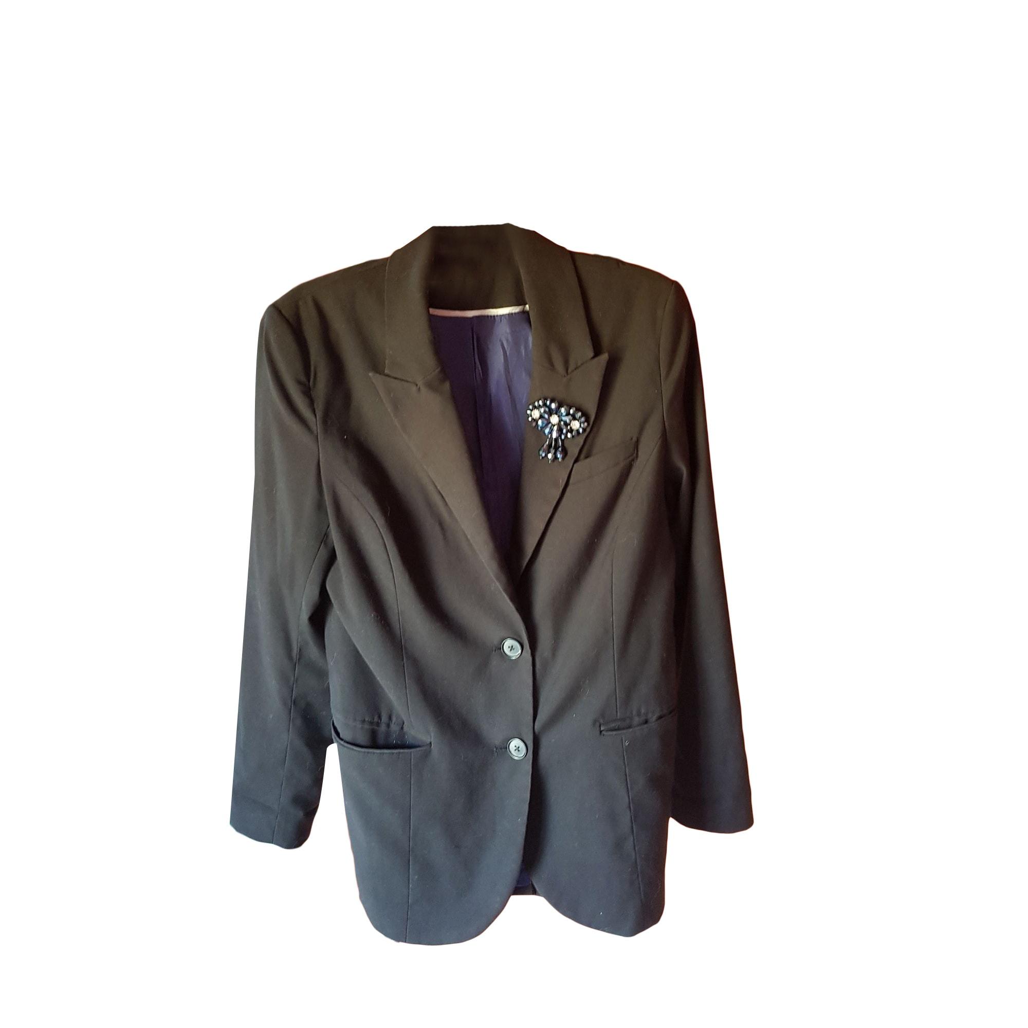 veste blazer noir maje sayin poches