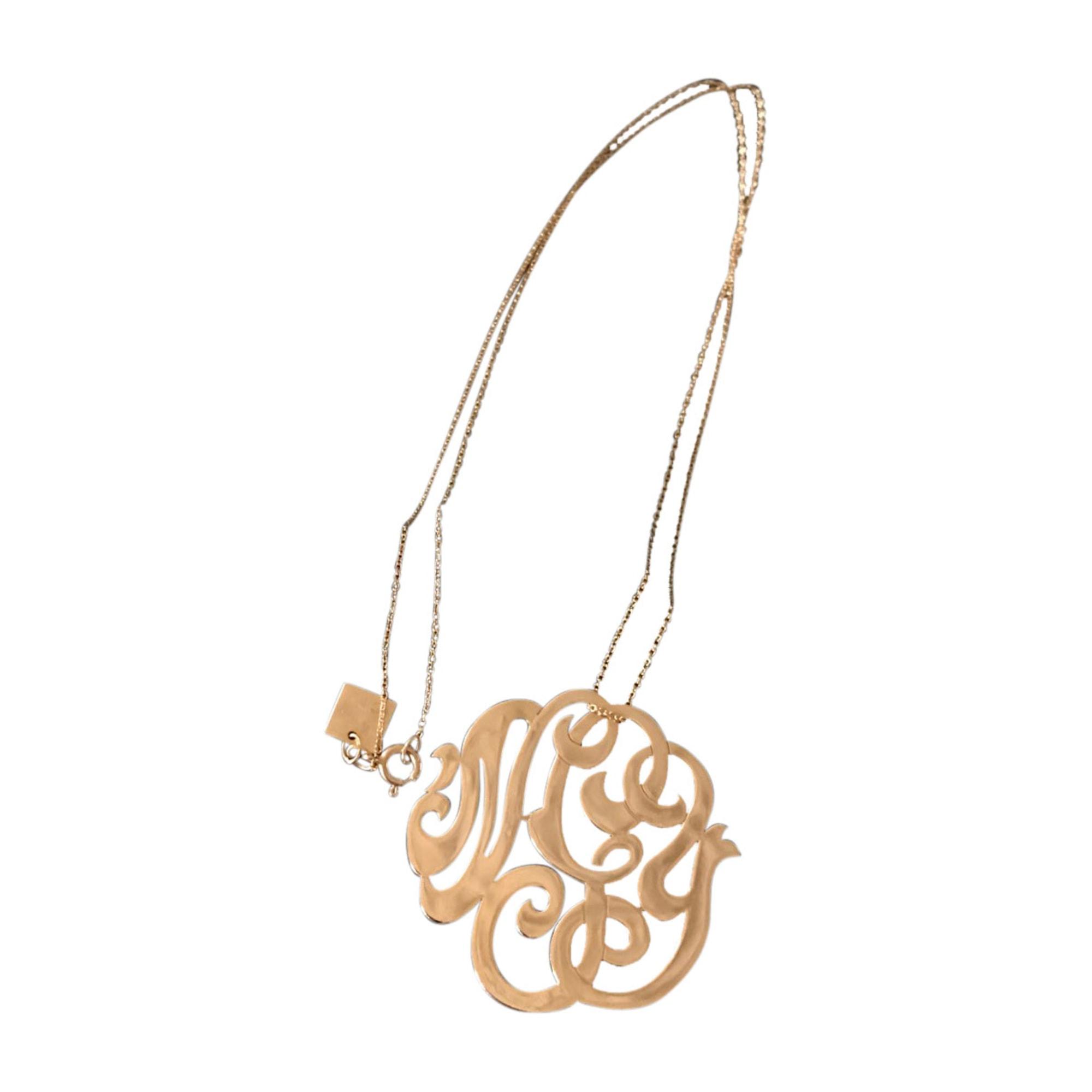 Pendentif, collier pendentif GINETTE NY Doré, bronze, cuivre