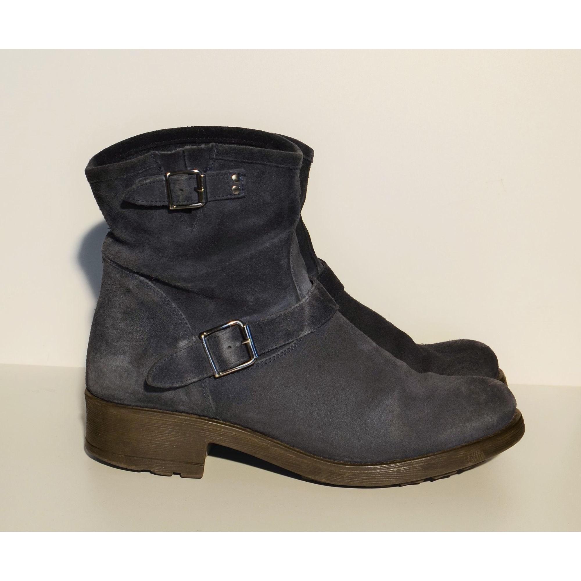Bottines & low boots à talons TEXTO Bleu, bleu marine, bleu turquoise