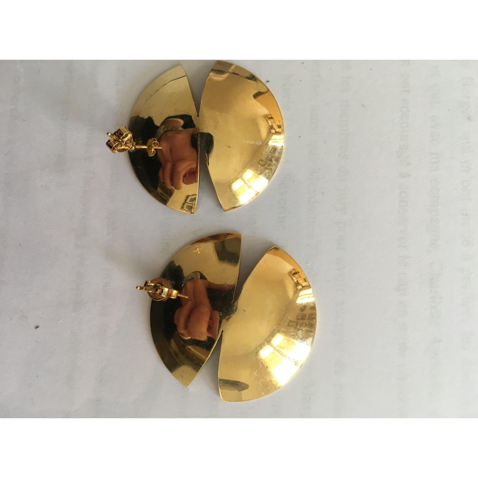 Boucles d'oreille ANNE THOMAS laiton doré