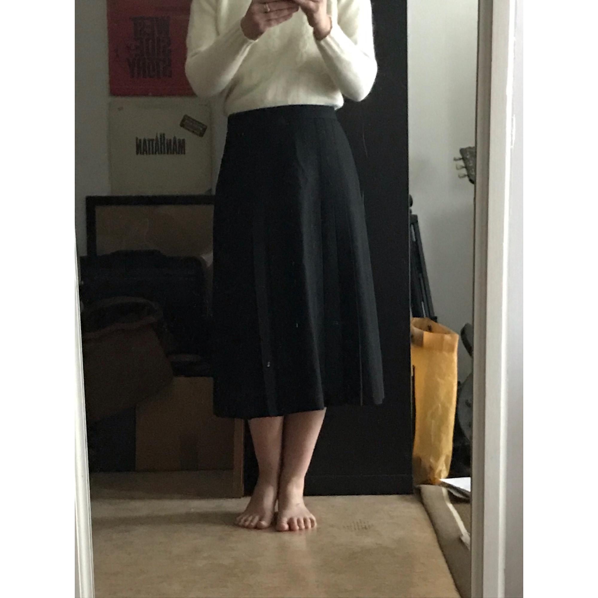 Jupe mi-longue VINTAGE Noir