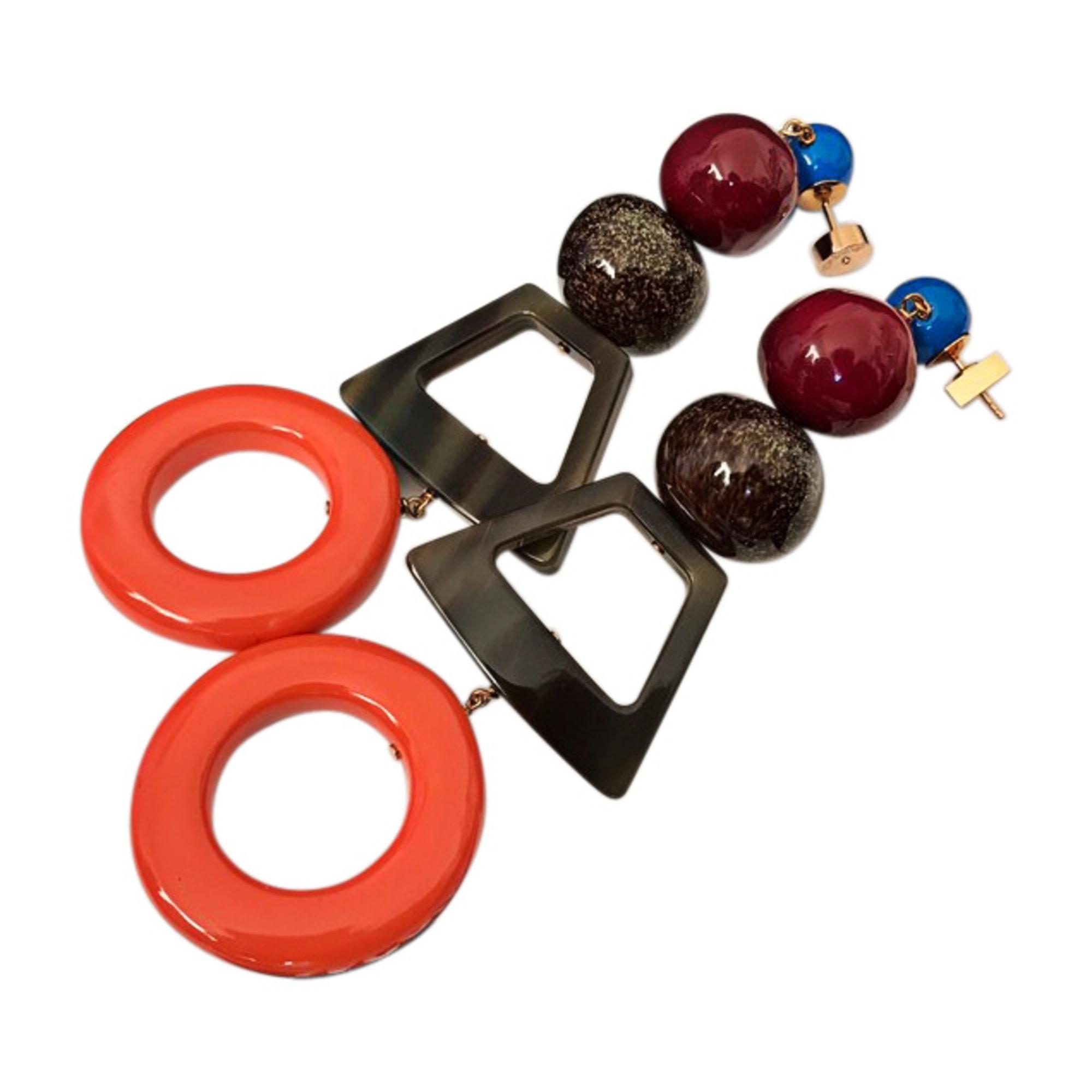 Boucles d'oreilles JACQUEMUS pierres multicolore