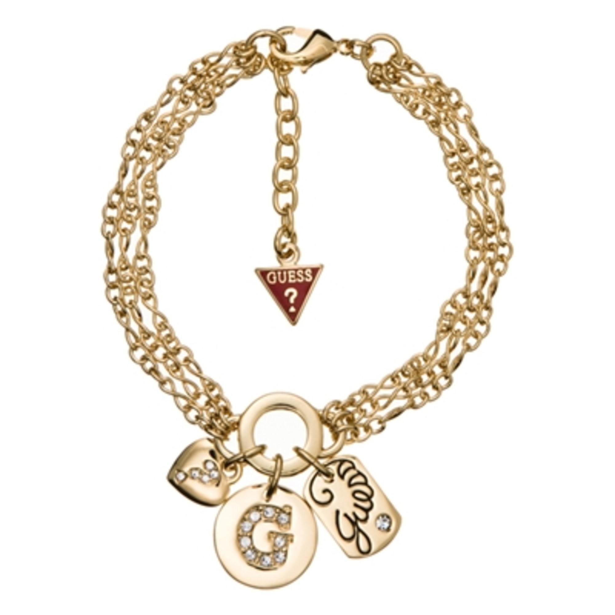 Bracelet Guess Doré Noeud papillon et breloques