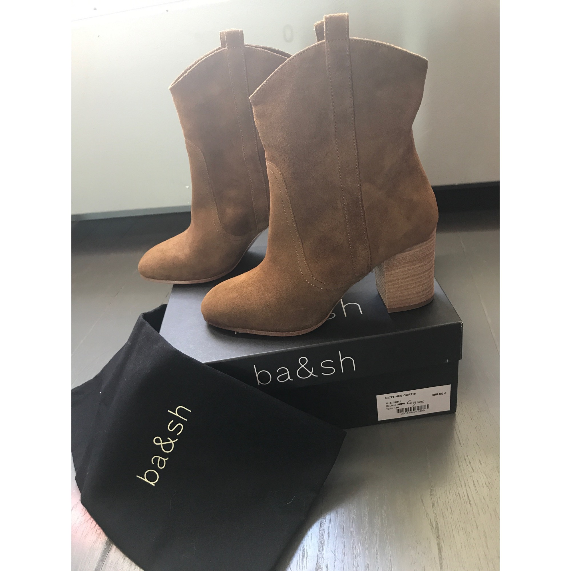 Bottines & low boots à talons BA&SH Beige, camel
