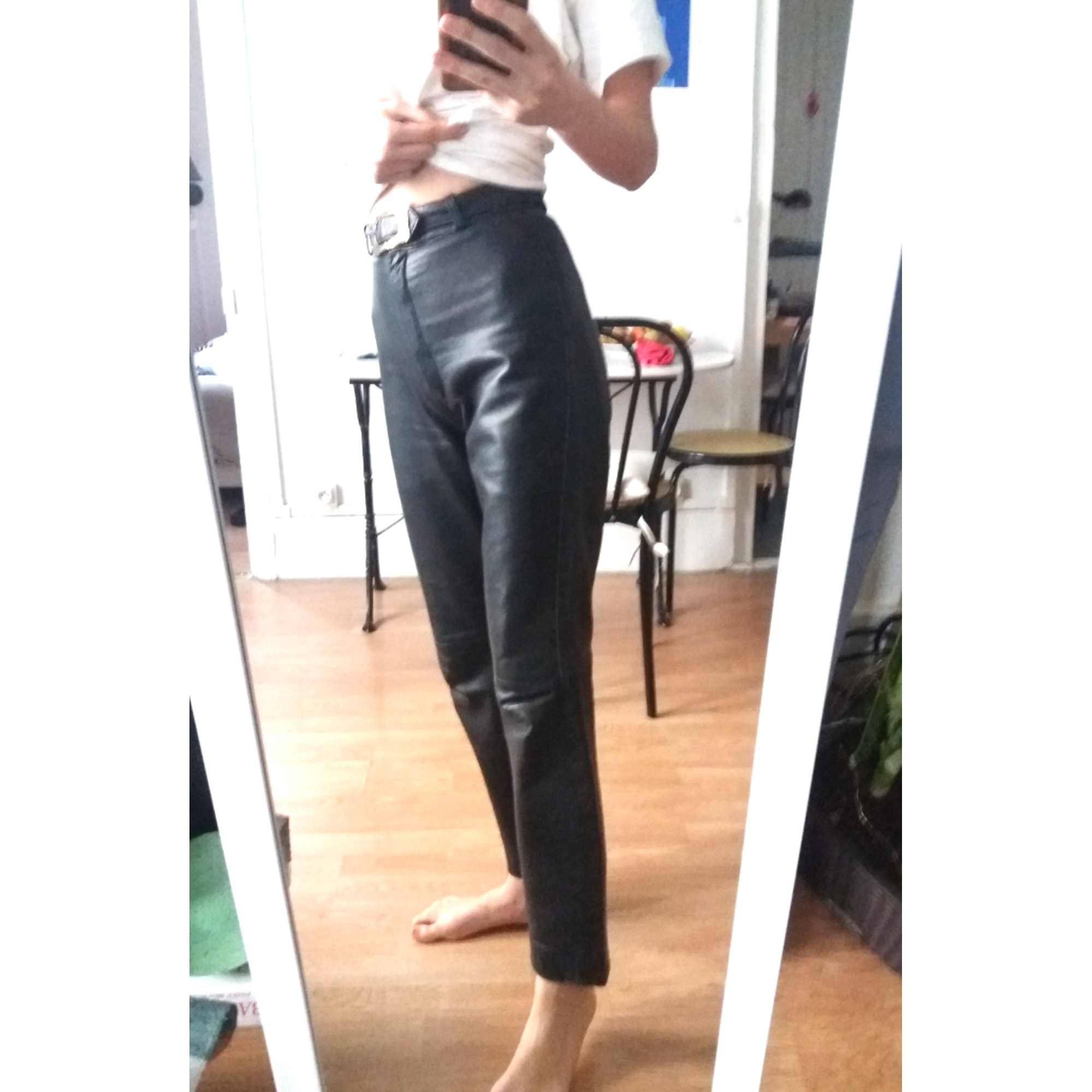 Pantalon droit VINTAGE Noir