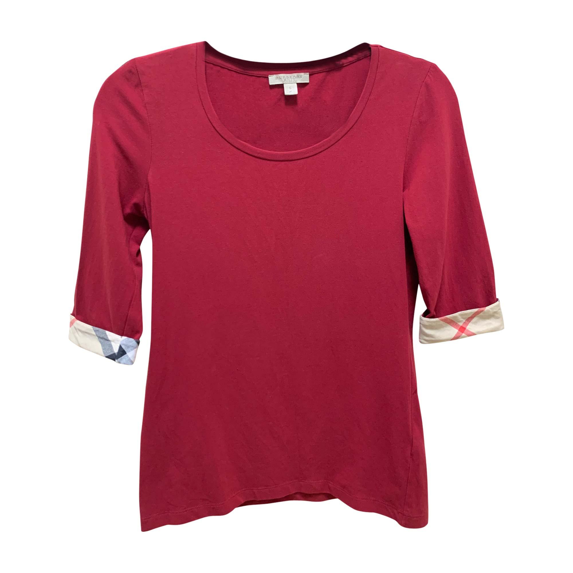 Top, tee-shirt BURBERRY Rouge, bordeaux