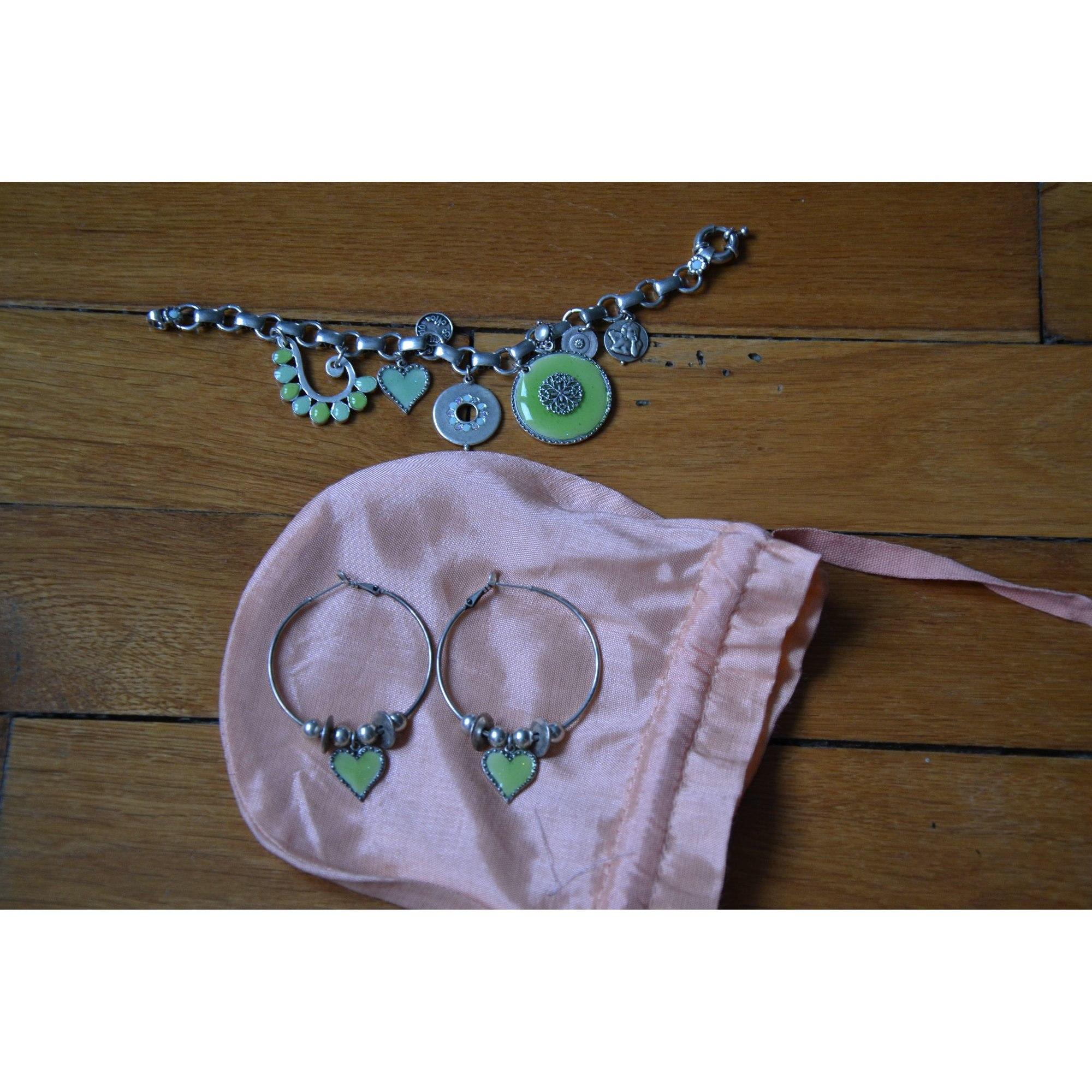 Parure bijoux STATU QUO argent vert
