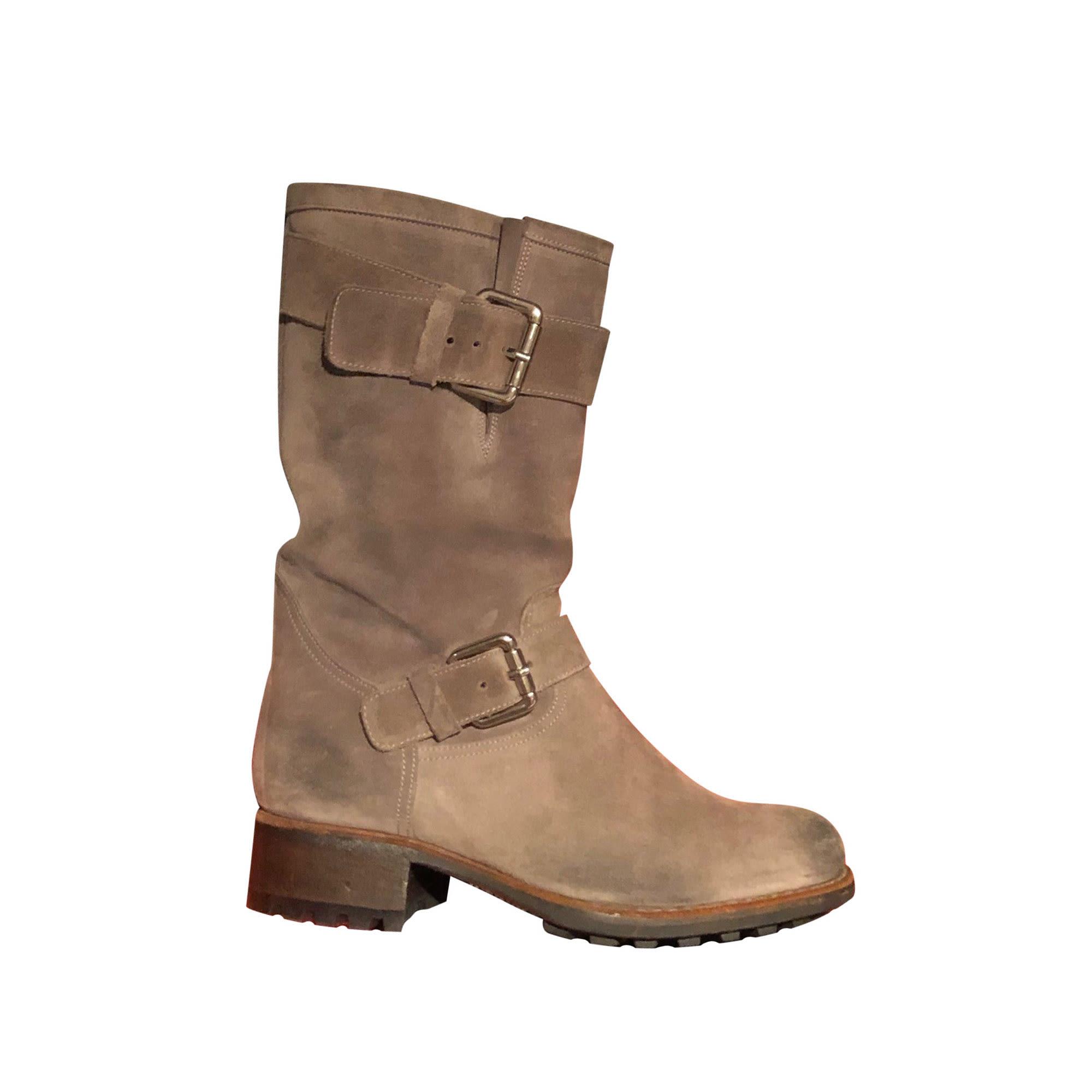 Bottines & low boots motards FREE LANCE Gris, anthracite